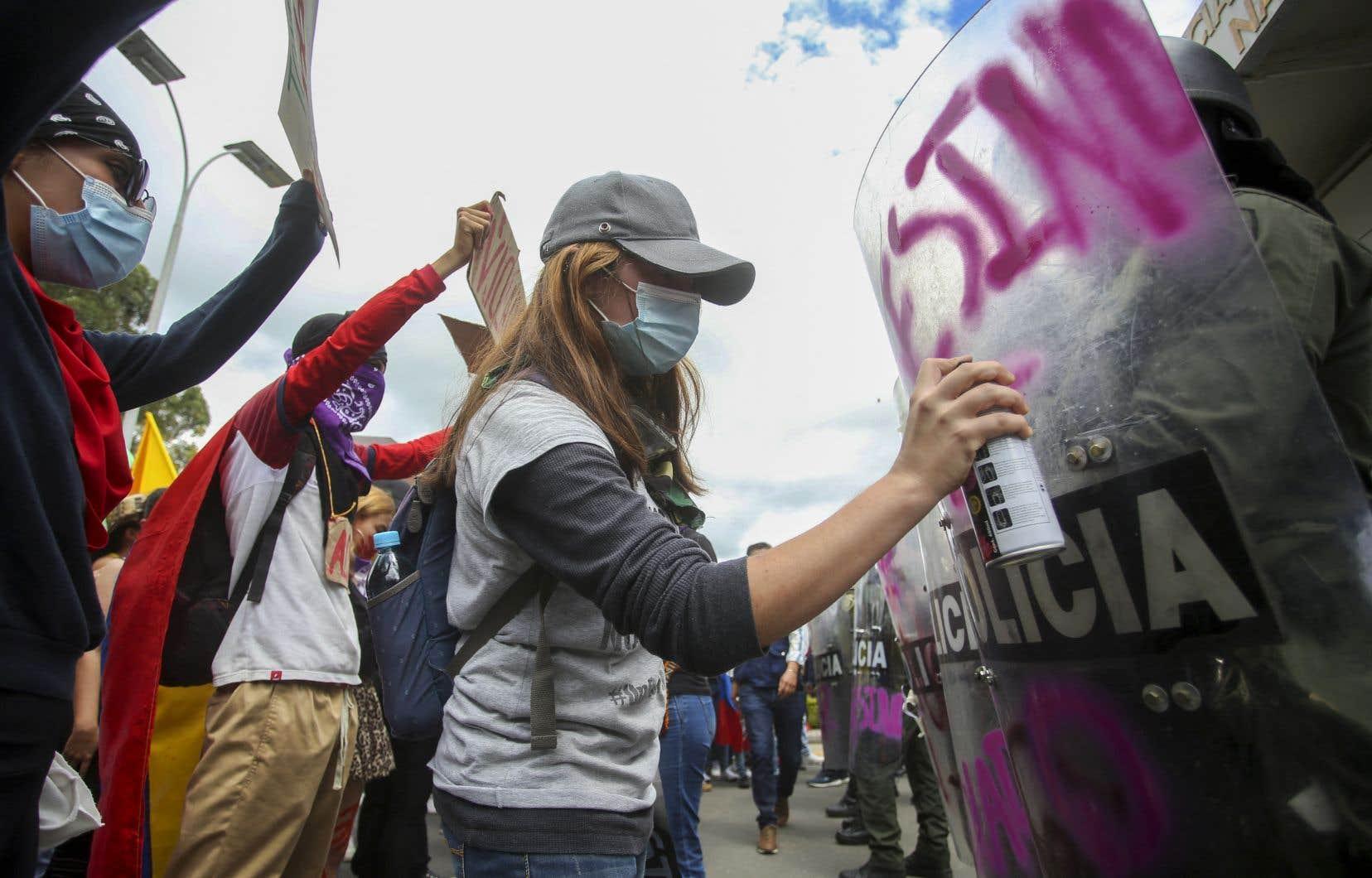 Des manifestants àPopayán