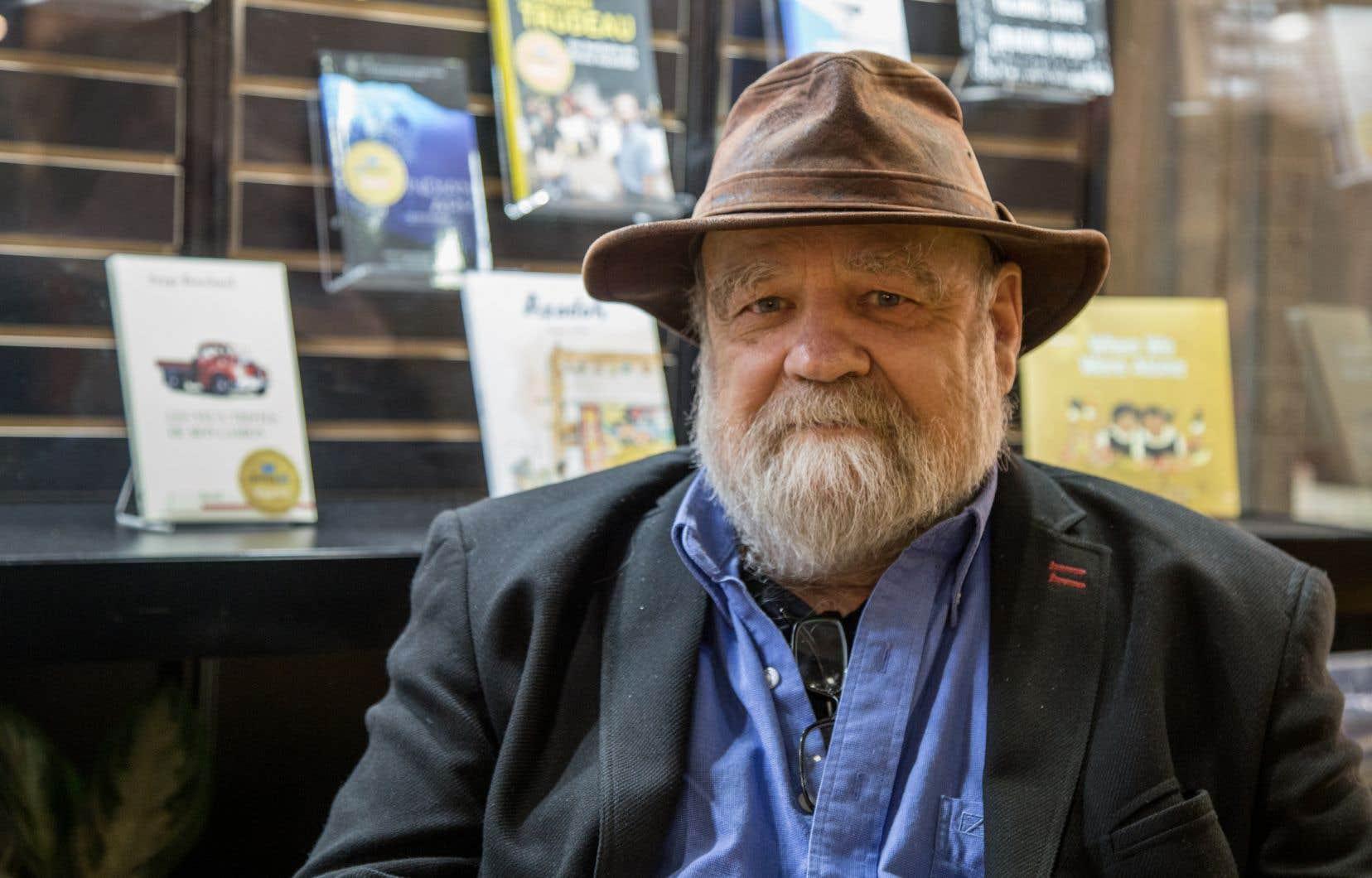 Serge Bouchard, anthropologue, animateur et auteur, lors du Salon du livre de Montréal 2017 à la Place Bonaventure