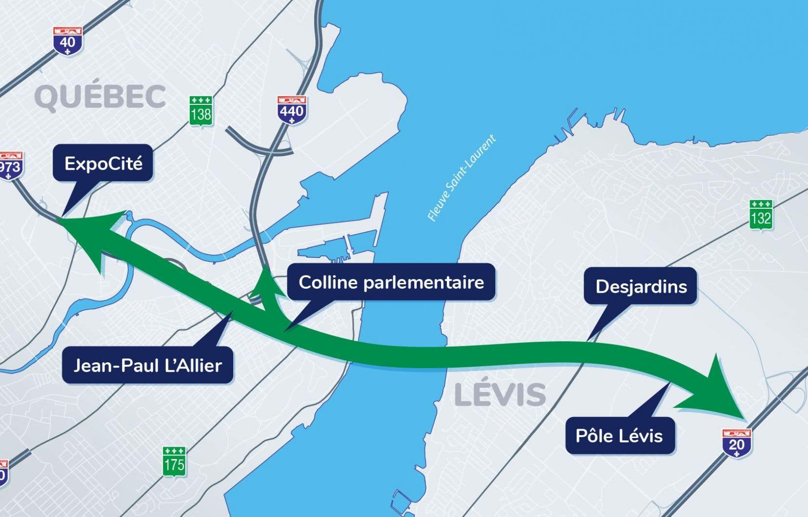 La coalition remet notamment en cause qu'entre 50 000 et 55 000 personnes emprunteront le futur tunnel chaque jour, comme l'a affirmé le gouvernement Legault.
