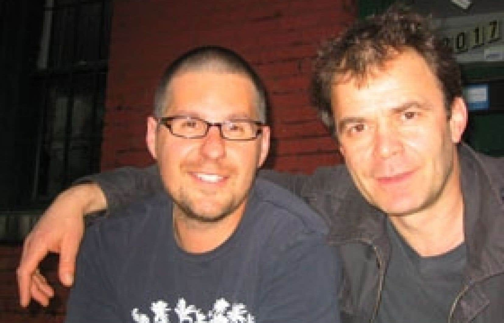 Peter Batakliev et Dave Jenniss, le metteur en scène et l'auteur de Wulustek