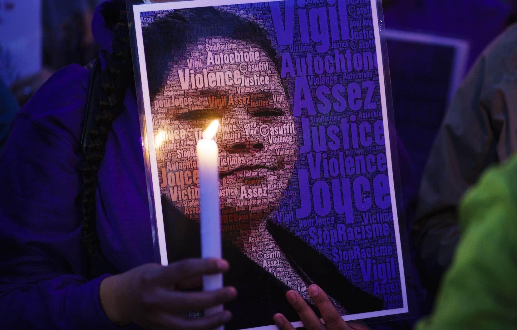 Joyce Echaquanest morte le 28septembre dernier à l'hôpital de Joliette.