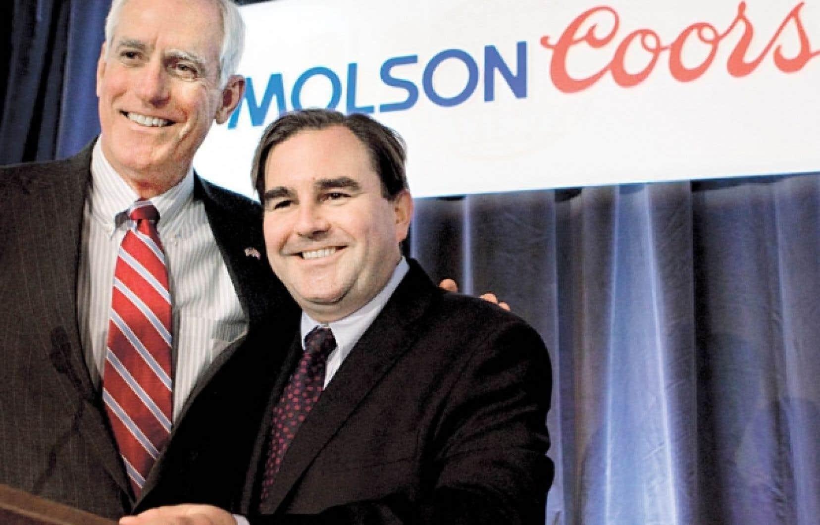 Andrew Molson (&agrave; droite) succ&eacute;dera &agrave; Peter Coors au poste de pr&eacute;sident du conseil d&rsquo;administration de Molson Coors Brewing Company.<br />