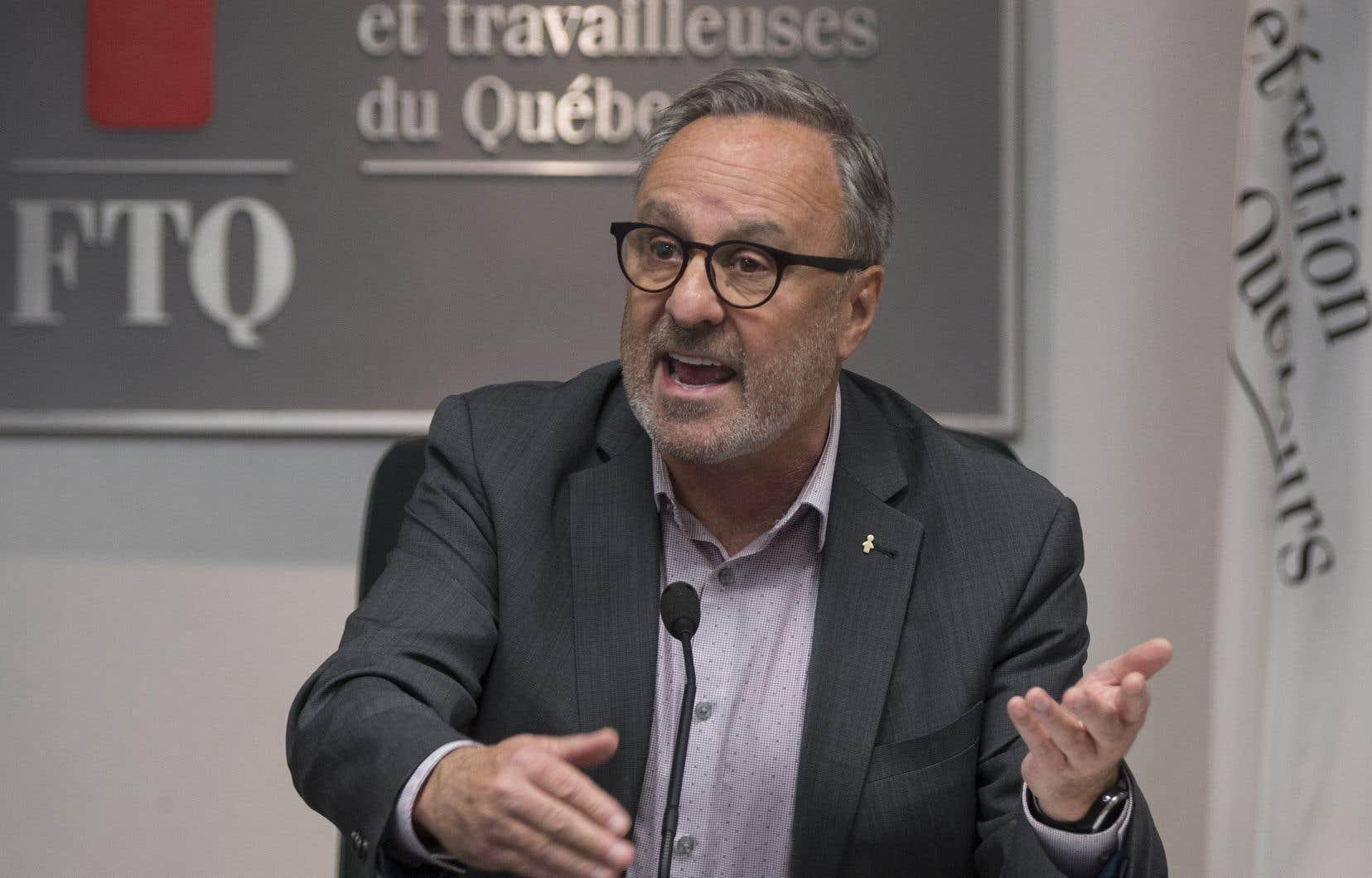 Daniel Boyer, président de la Fédération des travailleurs du Québec