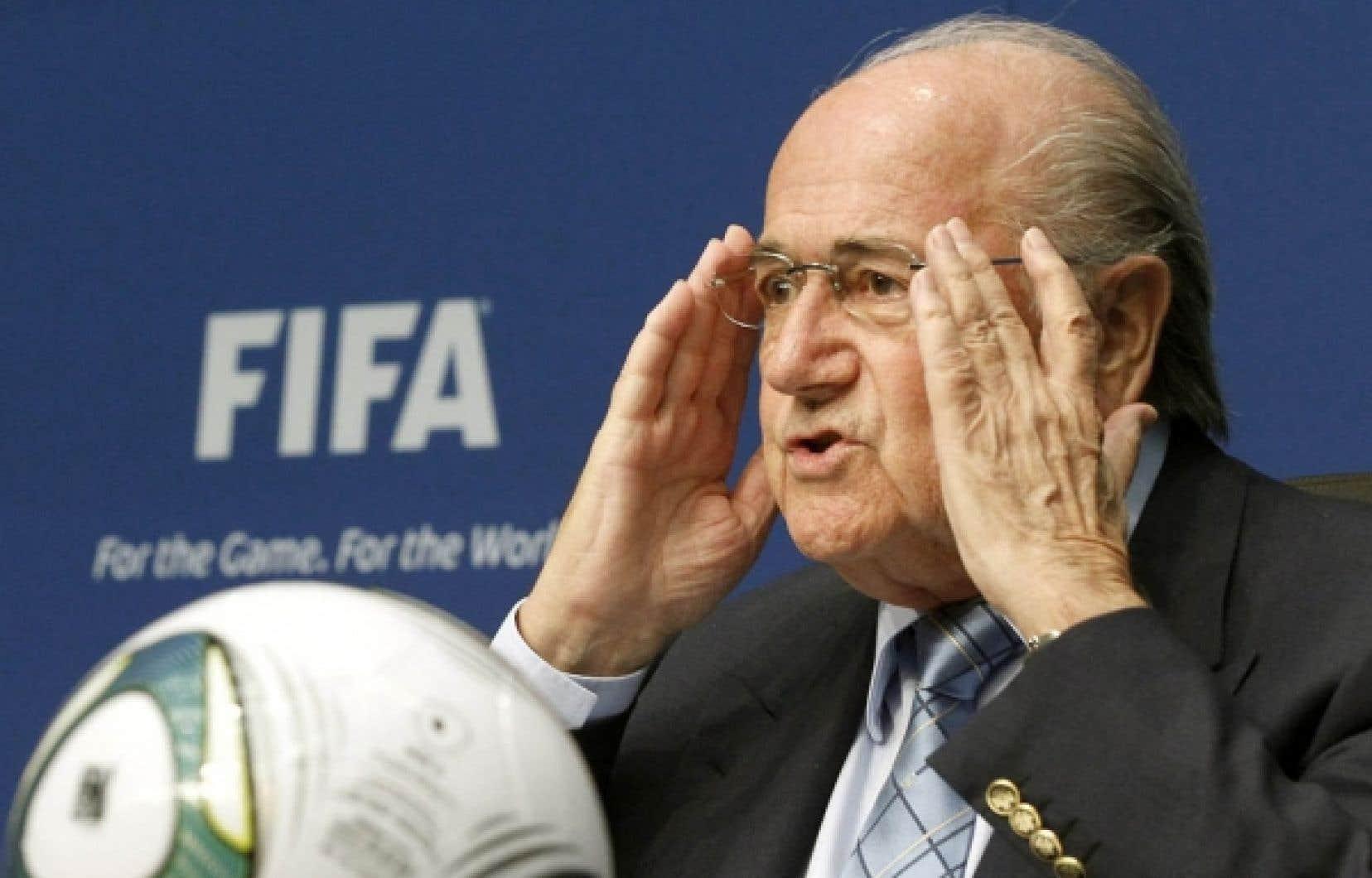 Sepp Blatter, hier à Zurich<br />