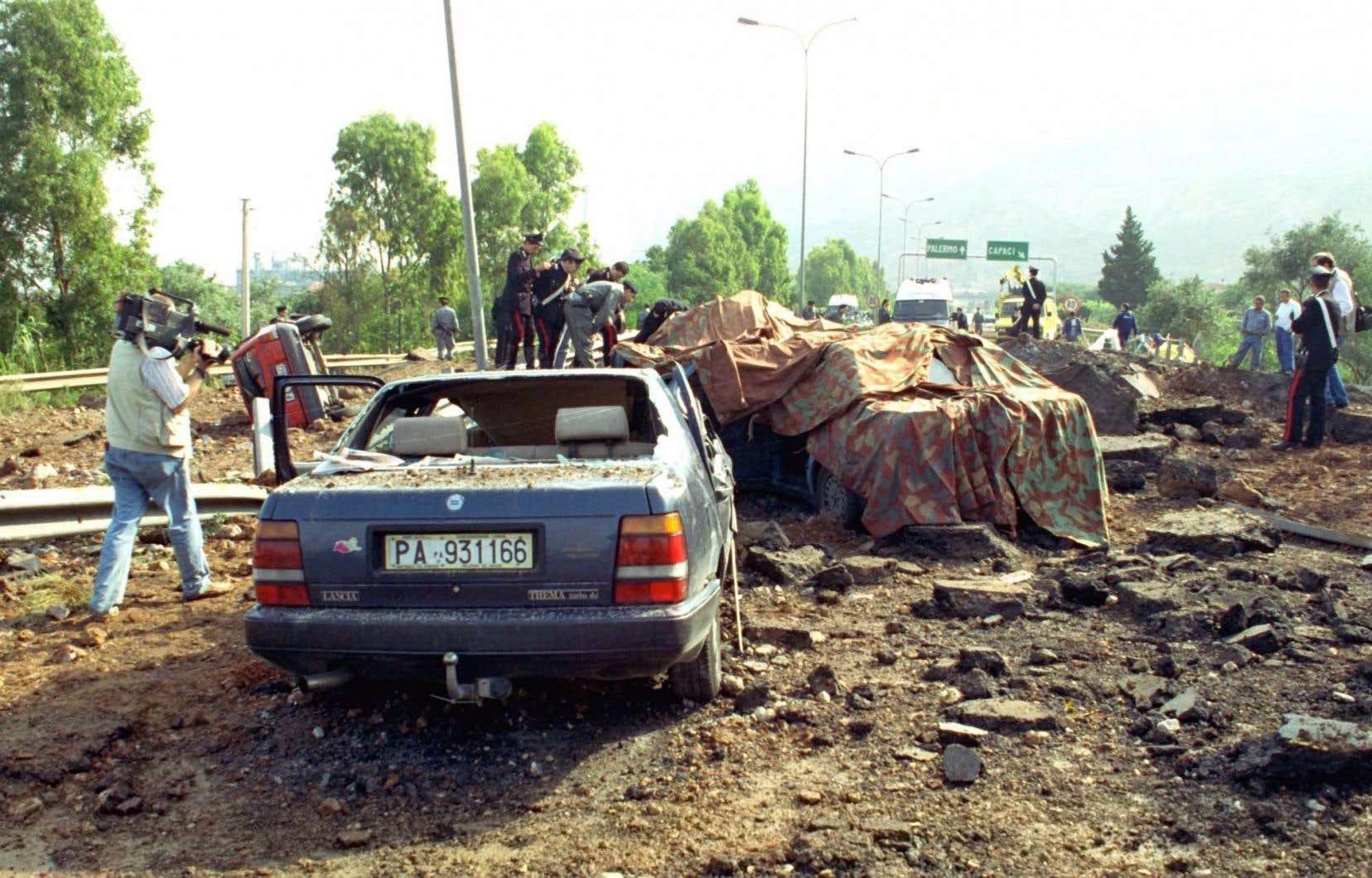 C'est Giovanni Brusca qui en 1992 avait actionné la télécommande qui fit exploser une bombe contenant 400kg d'explosifs sous la voiture du juge près de Palerme, tuant Giovanni Falcone, sa femme, et trois gardes du corps.