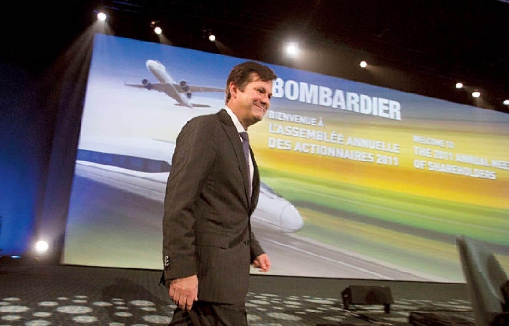 Pierre Beaudoin, pr&eacute;sident et chef de la direction de Bombardier: &laquo;Un programme d&rsquo;avion qui a du succ&egrave;s est un programme qui a une bonne distribution g&eacute;ographique avec plusieurs clients.&raquo;<br />