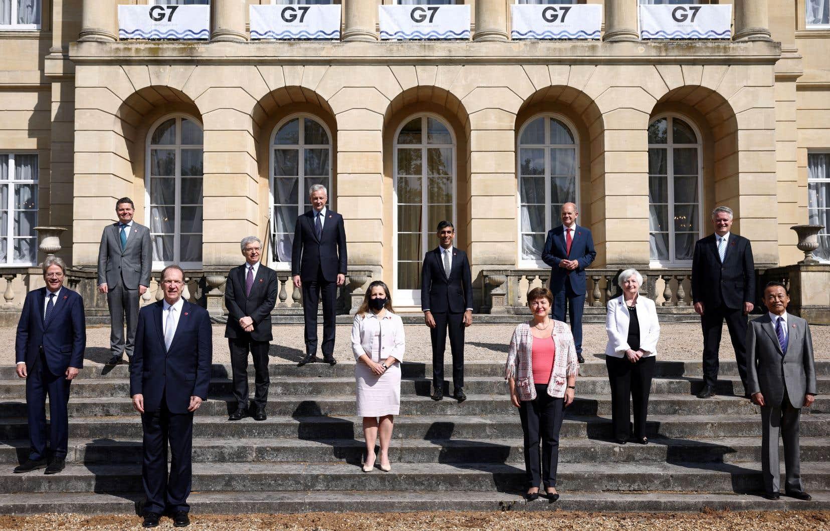 Les grandes puissances du G7 (Royaume-Uni, France, Italie Canada, Japon, Allemagne, États-Unis) étaient réunies samedi à Londres à l'occasion du G7 Finances.