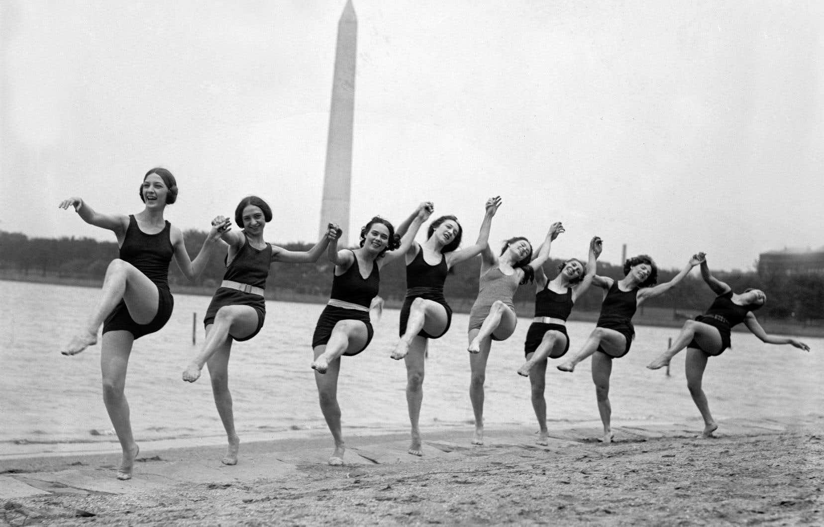 Des danseuses de la troupe de la chorégraphe Marion Morgan à Washington, en 1923