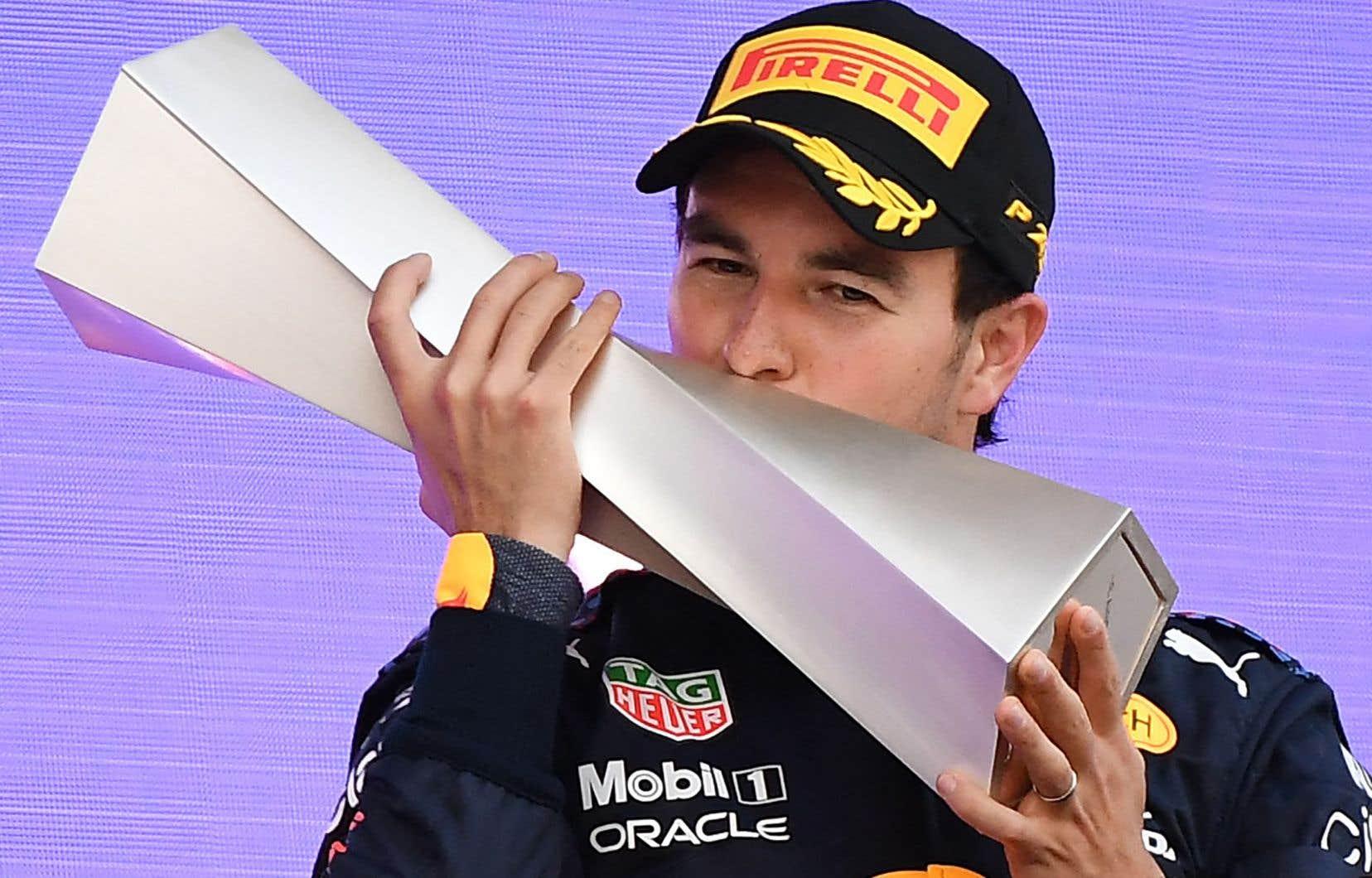 Le pilote Red Bull Sergio Perez a remporté le Grand Prix d'Azerbaïdjan.