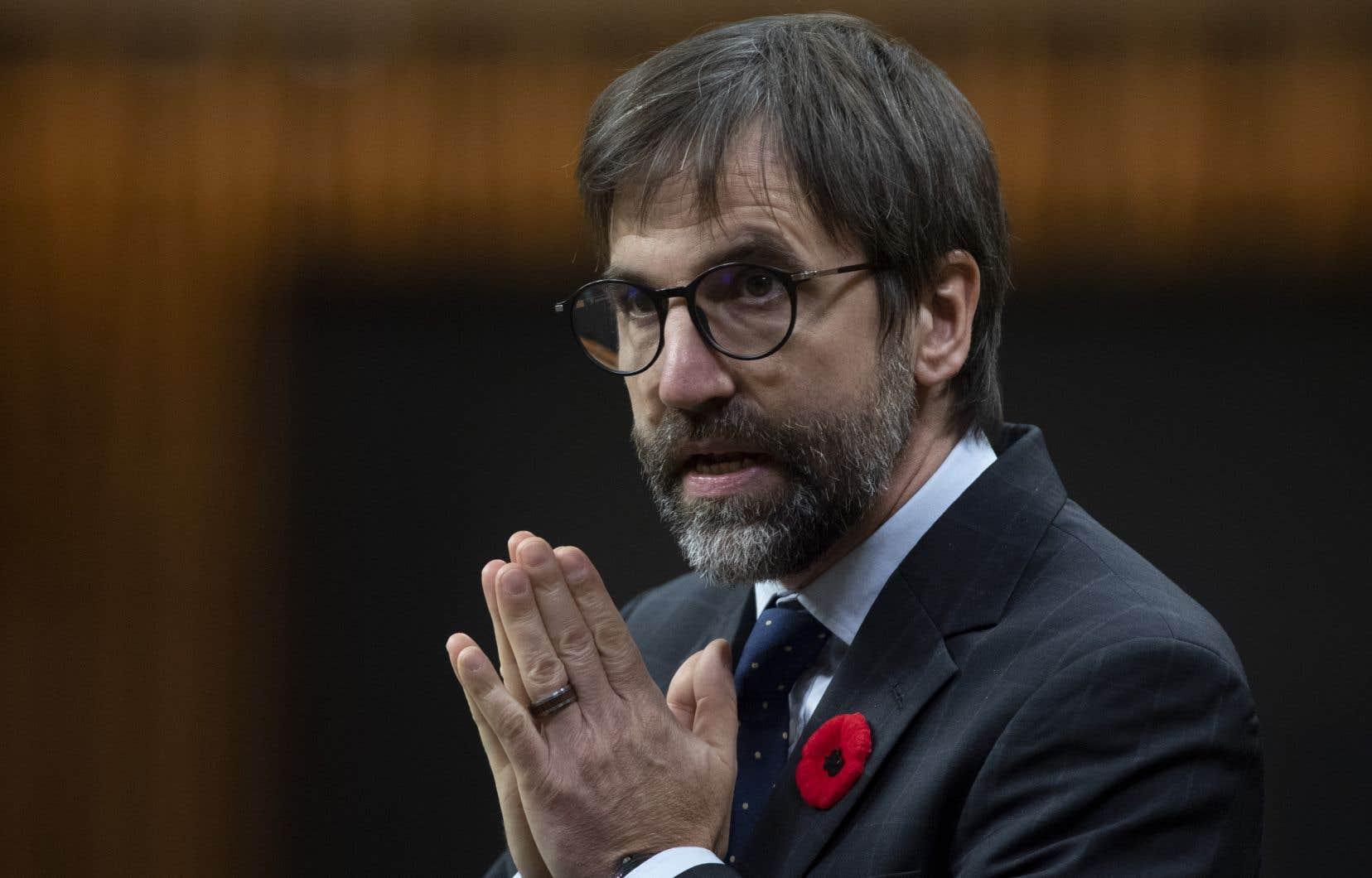 Le ministre libéral Steven Guilbeault