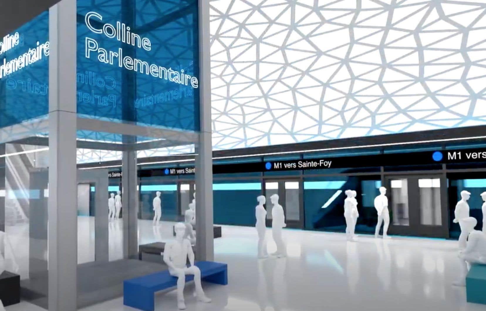 Le VALSE relierait la Colline parlementaire aux secteurs de Marly, à Sainte-Foy, et de l'Aquarium.