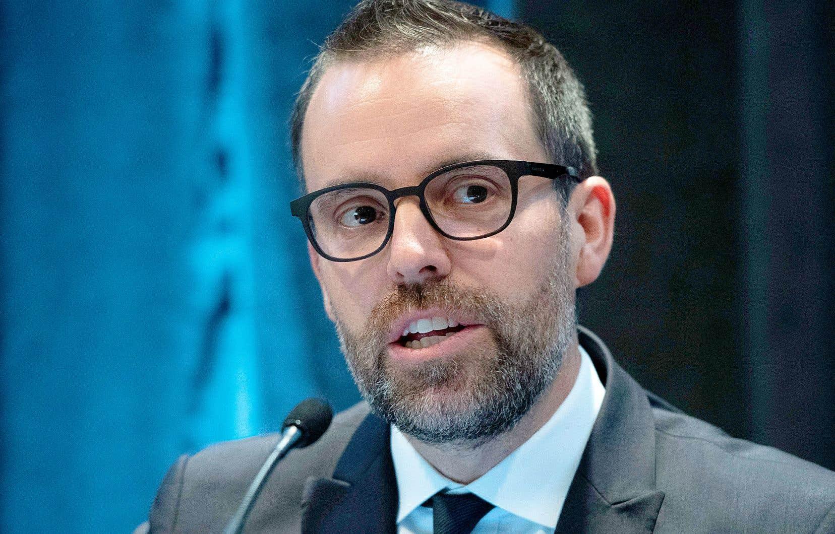 Le commissaire à la lutte contre la corruption, Frédérick Gaudreau
