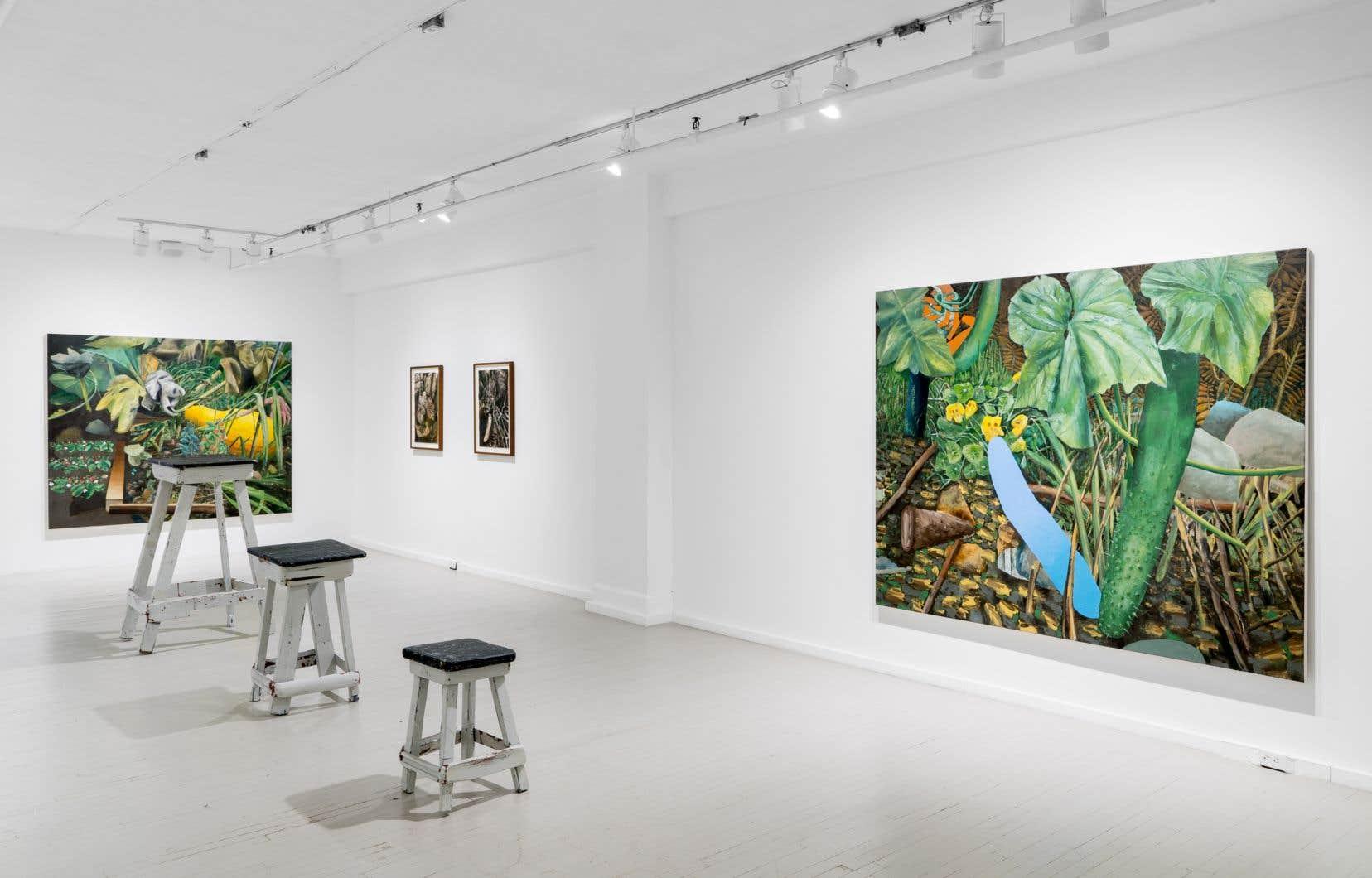 Vue de l'exposition «Le petit lieu» de David Lafrance