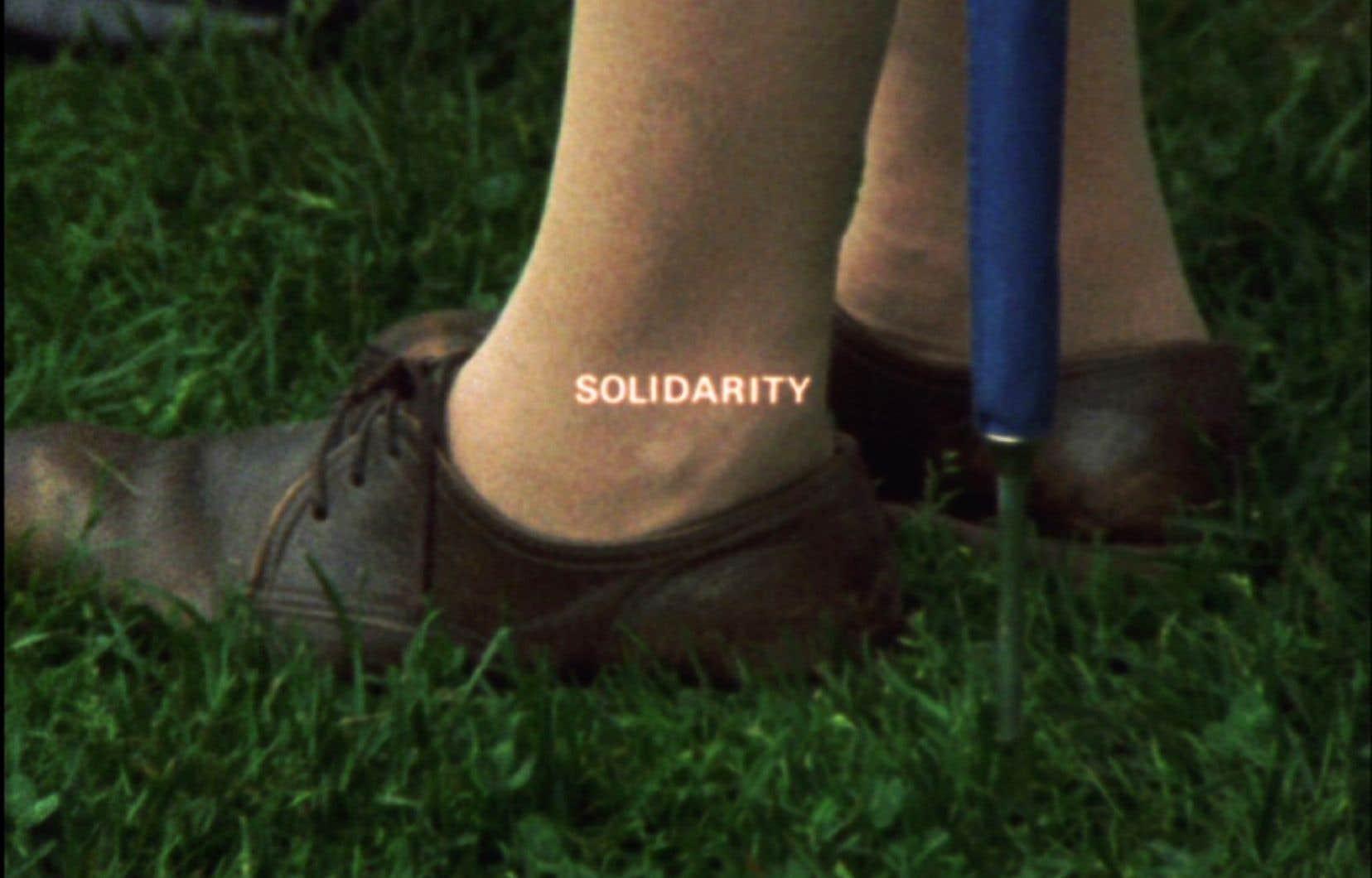 Image tirée de «Solidarity» (1973) de Joyce Wieland