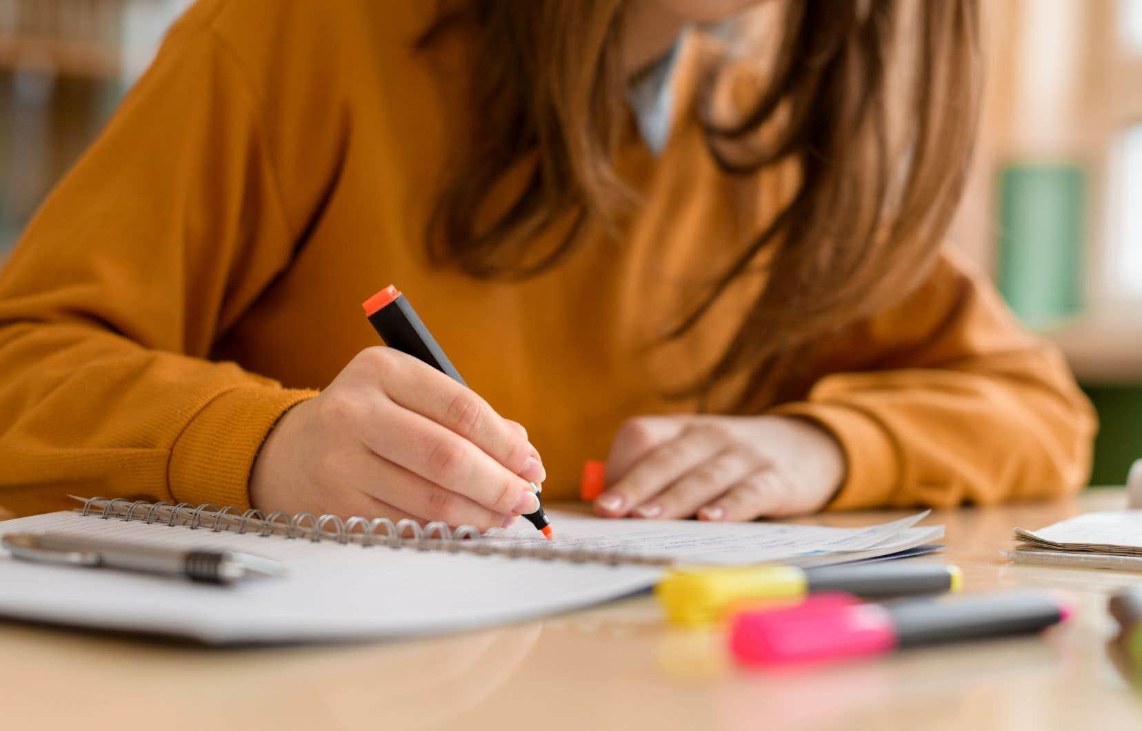 «Pour l'épreuve d'écriture de 2010, seulement 56,7% des élèves réussissaient le critère relatif à l'orthographe lexicale et grammaticale», rappelle l'auteur.