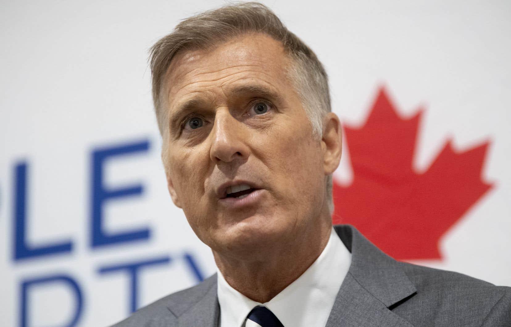 Lechef du Parti populaire du Canada, Maxime Bernier