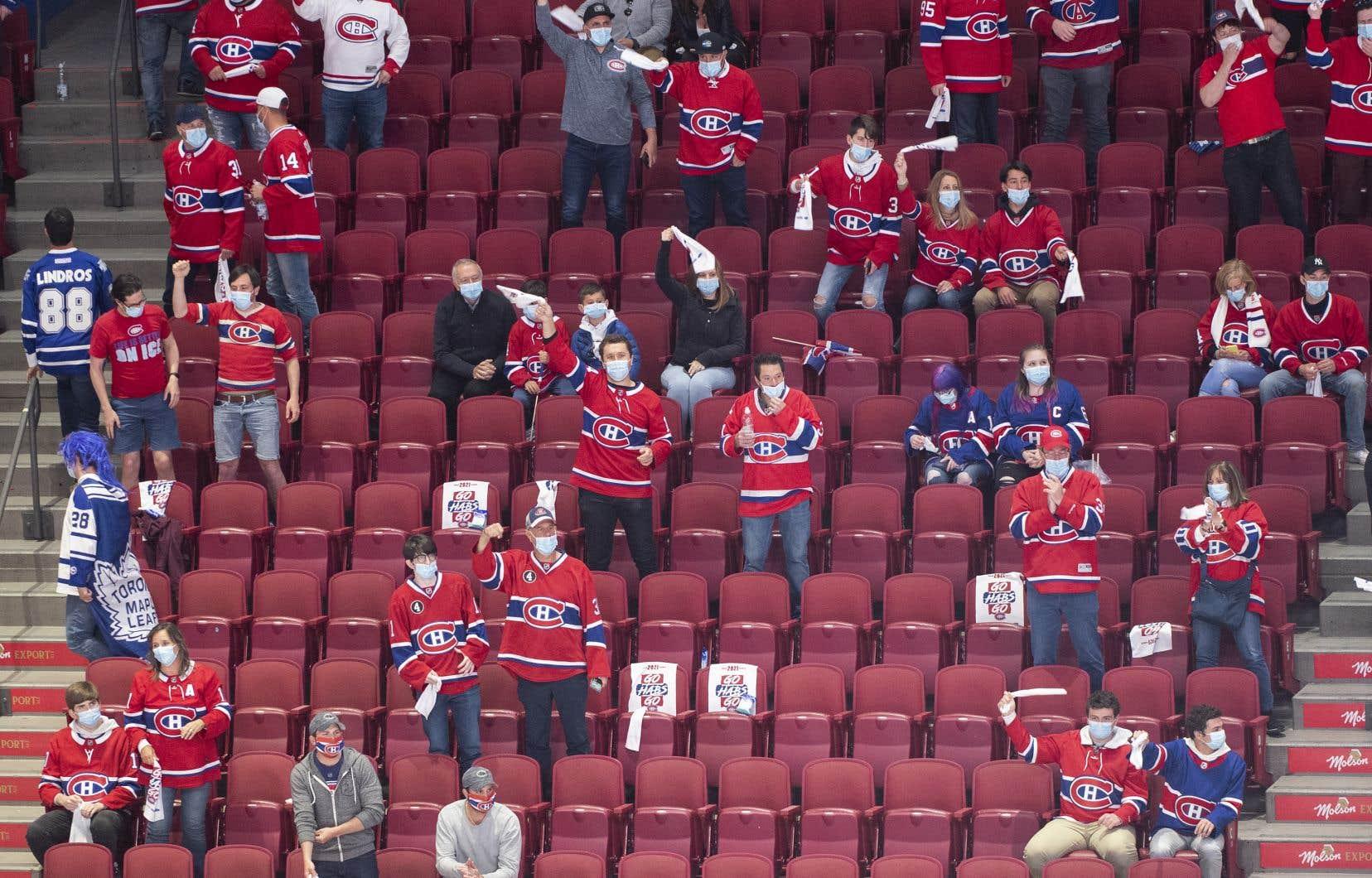 Le Canadien a pu accueillir 2500 partisans depuis le sixième match de sa série de premier tour contre les Maple Leafs de Toronto.