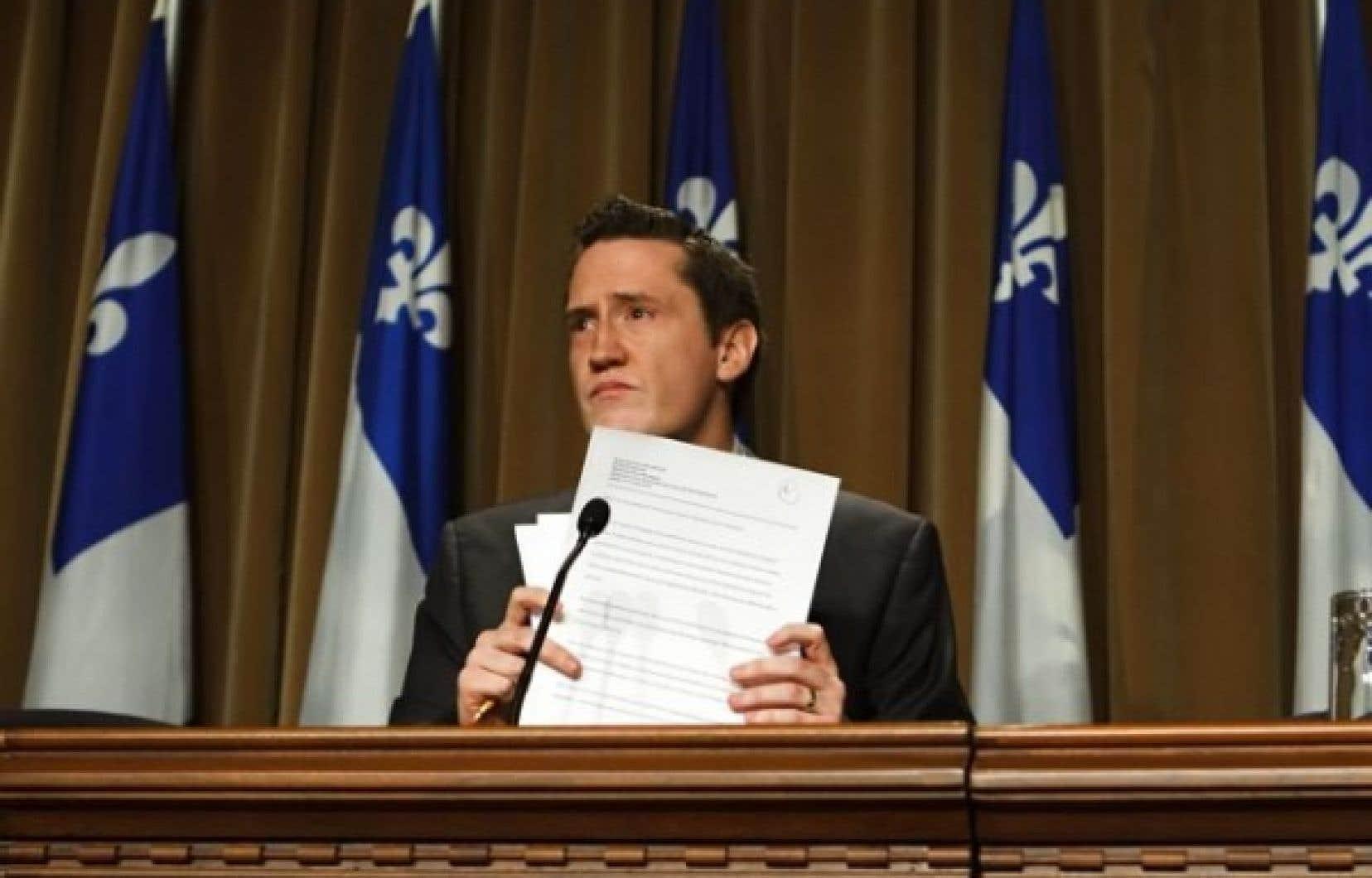 Benoit Charette, qui siégera comme indépendant à l'Assemblée nationale, est le cinquième député péquiste à claquer la porte du caucus en deux semaines.