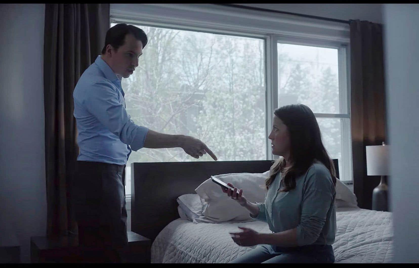 Publicité sur la violence faite aux femmes, gouvernement du Québec (capture d'écran).