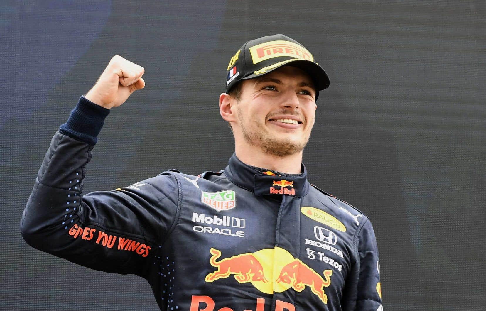 Le pilote Max Verstappen a signé dimanche sa troisième victoire cette saison.