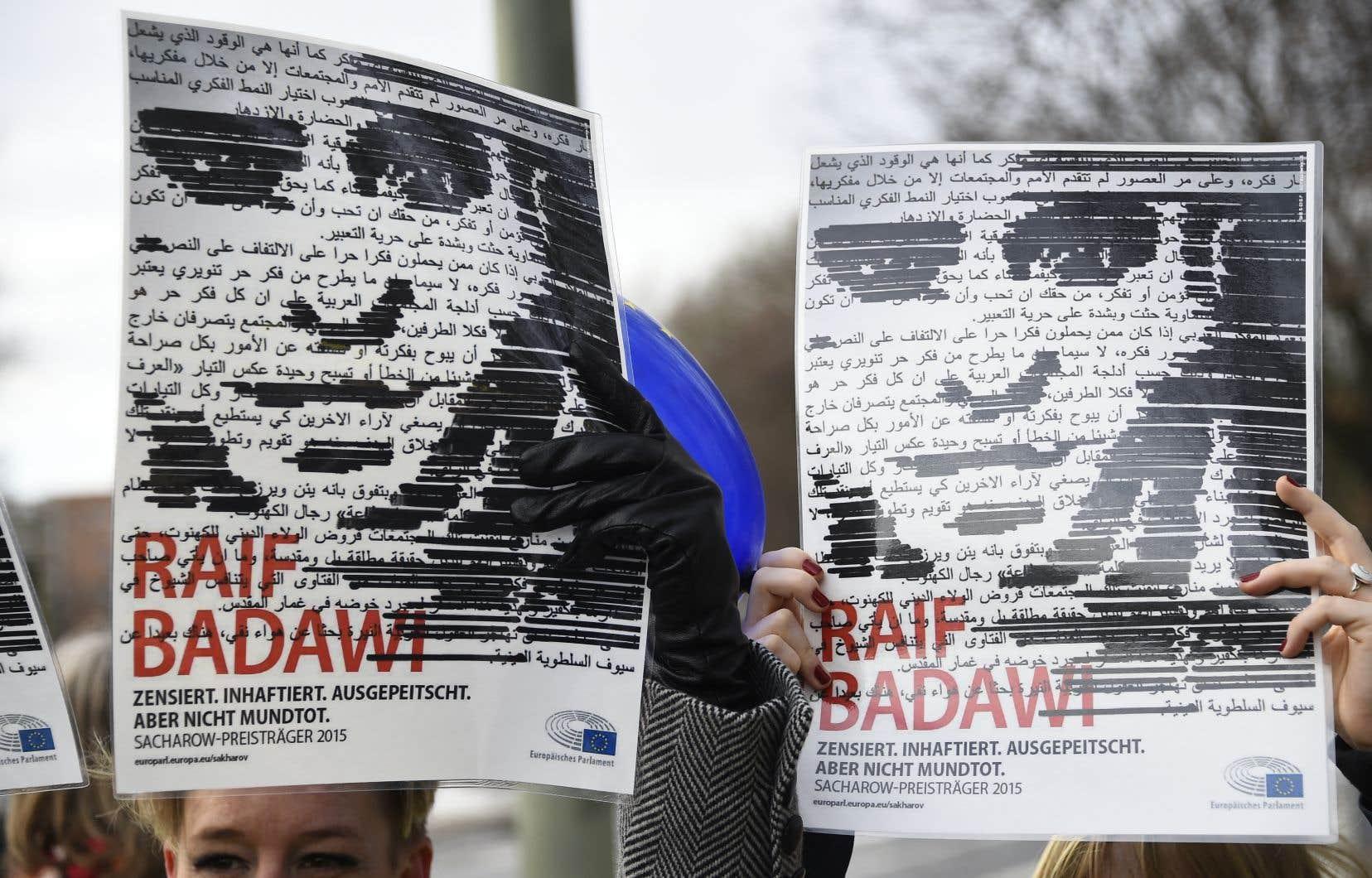 Depuis l'incarcération de Raïf Badawi le 17juin 2012, des manifestations ont eu lieu un peu partout dans le monde.
