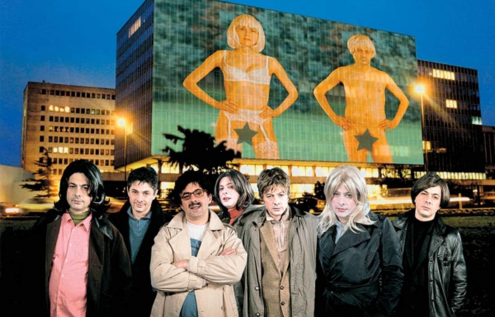 Image tirée du court métrage Nantes. Projets d'artistes (2000), de Pierrick Sorin<br />