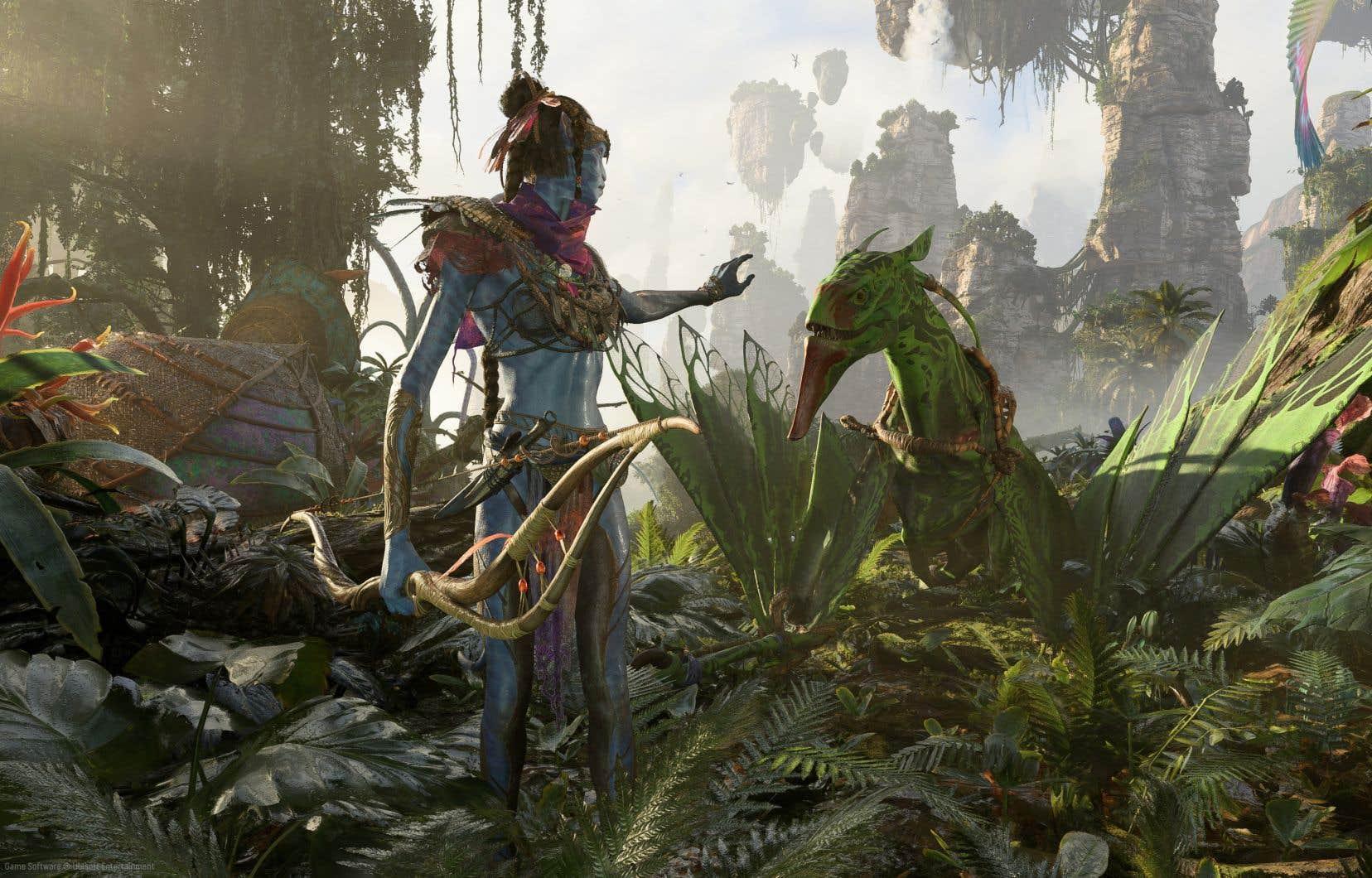 Image tirée de la bande-annonce du nouveau jeu «Avatar: Frontiers of Pandora» développé par Ubisoft