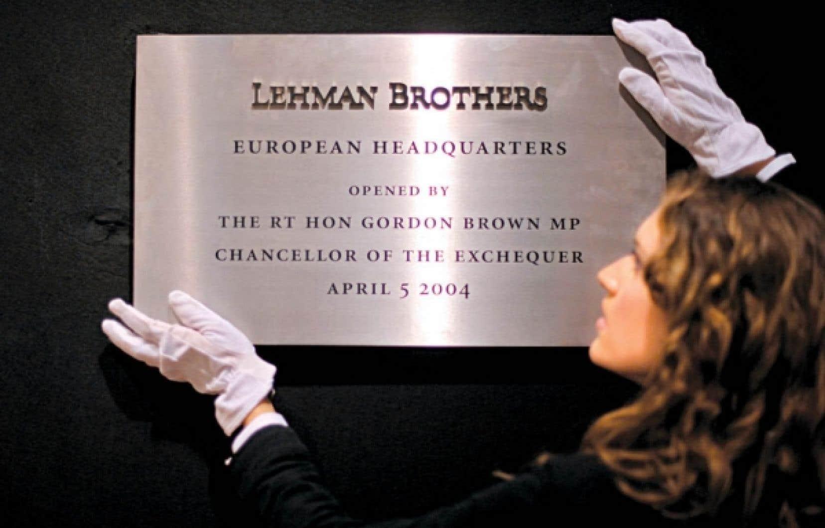 24 septembre 2010: vente aux enchères chez Christie's de ce qui reste de Lehman Brothers.<br />