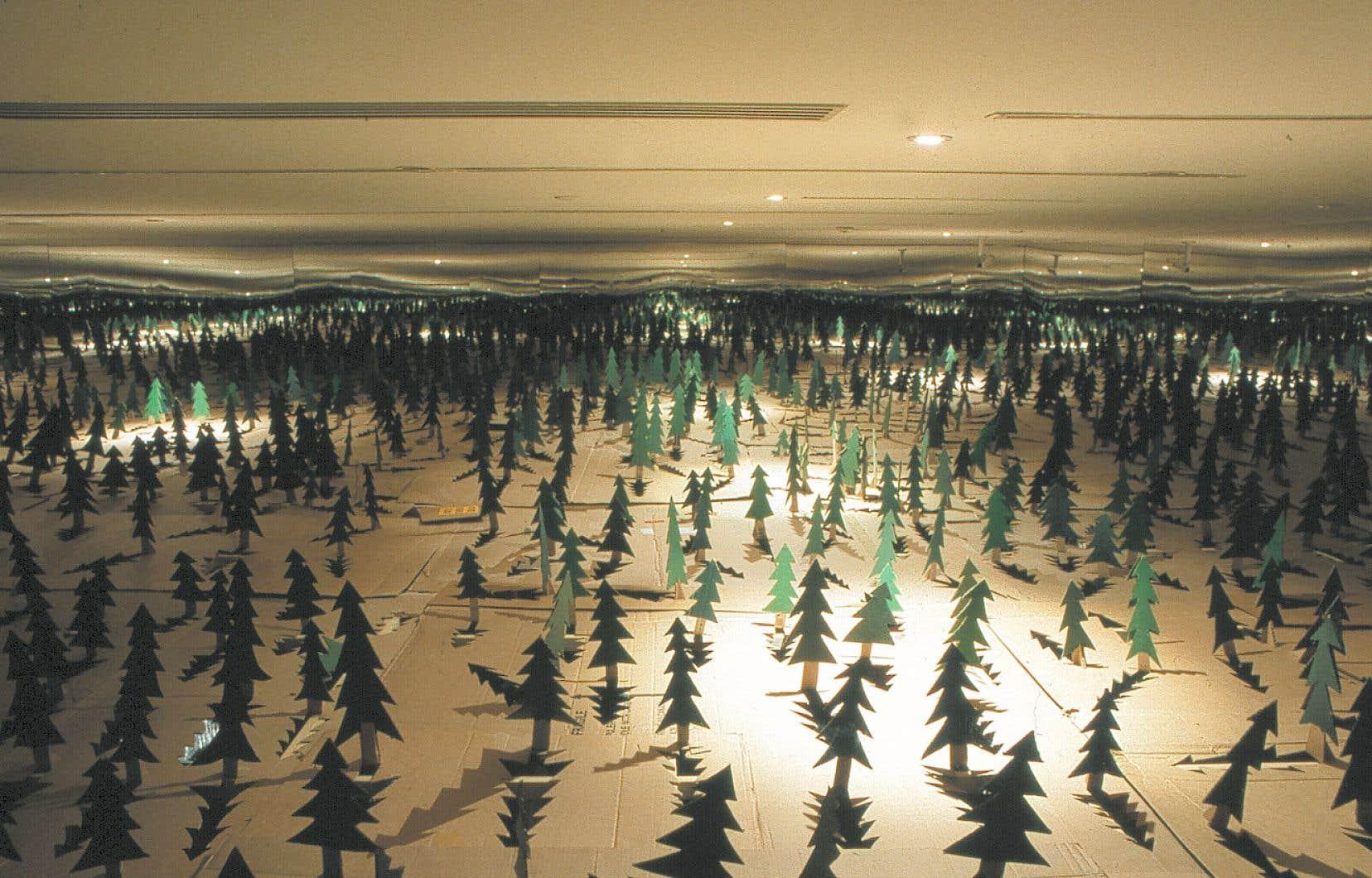 L'installation «À l'abri des arbres», créée par le collectif en 2001