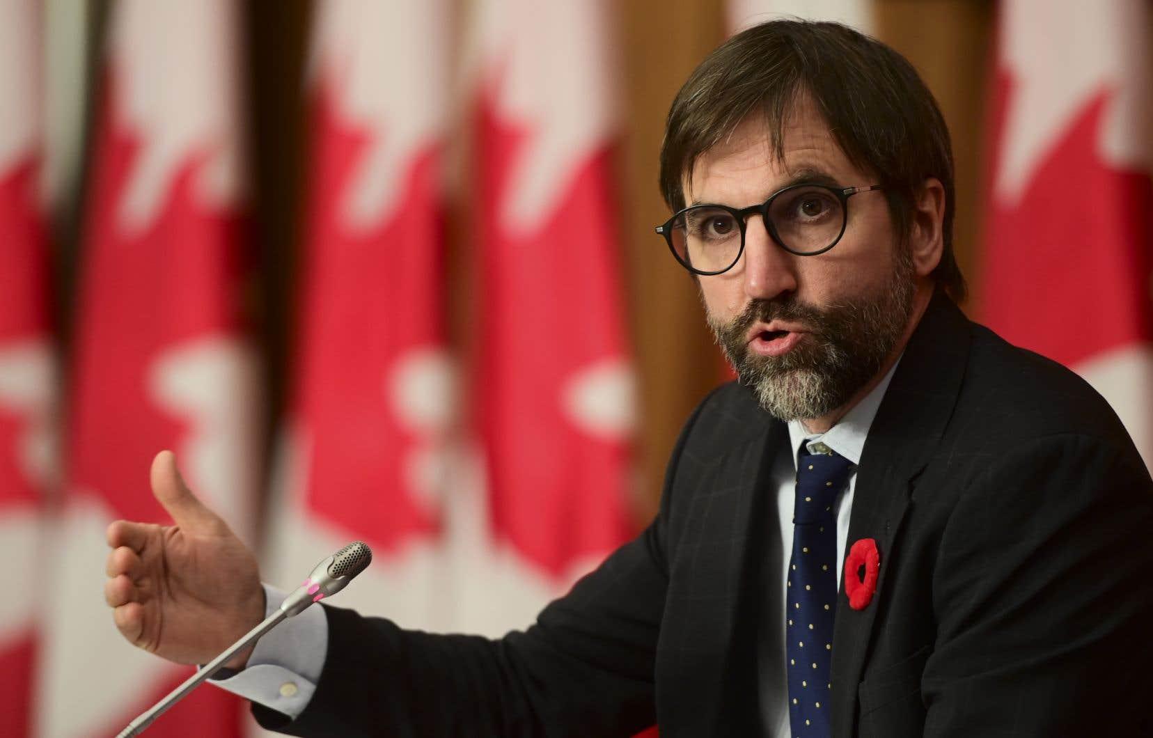 Le ministre du patrimoine canadien, Steven Guilbeault