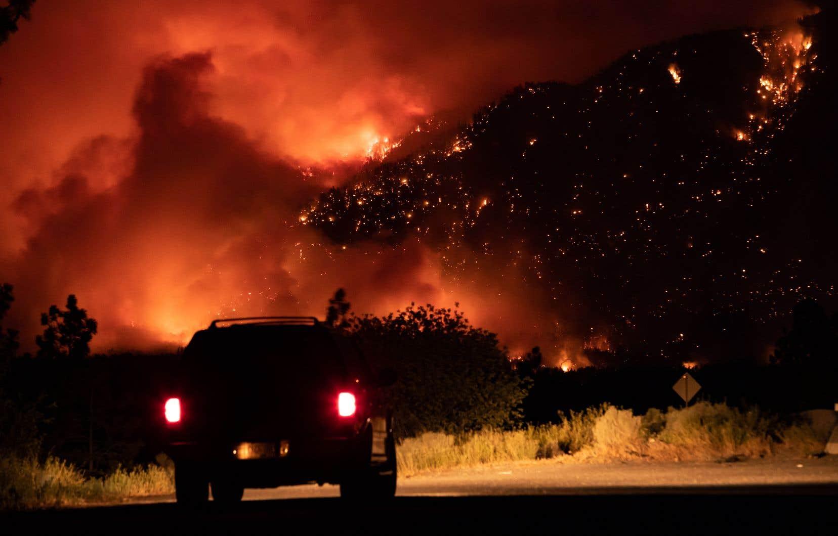 Un feu de forêt a tout ravagé cette semaine dans le village de Lytton, en Colombie-Britannique.