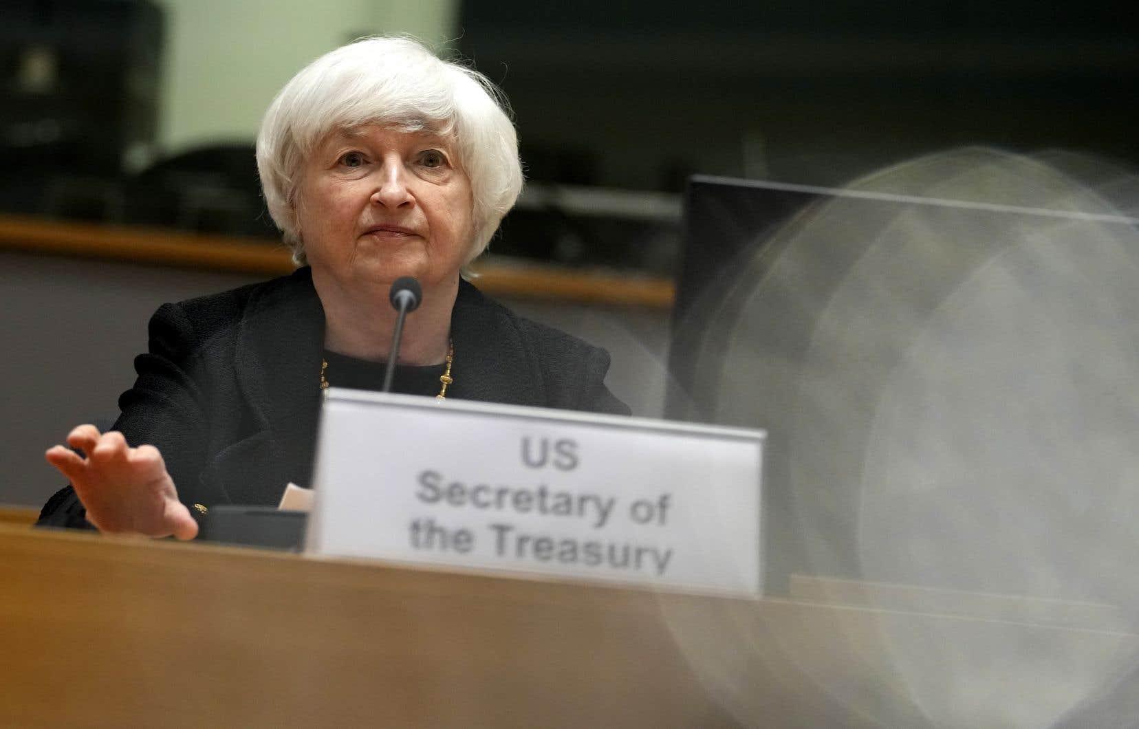 Présente lundi à Bruxelles, Janet Yellen avait appelé l'UE à reconsidérer son projet de taxe numérique européenne.