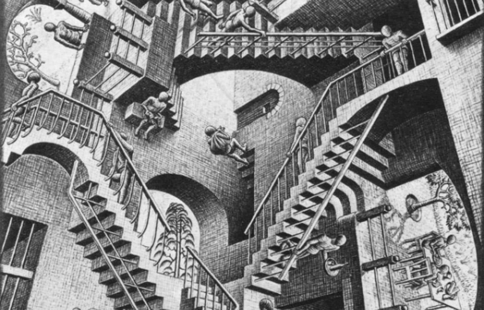 Relativité (1953), M.C. Escher<br />