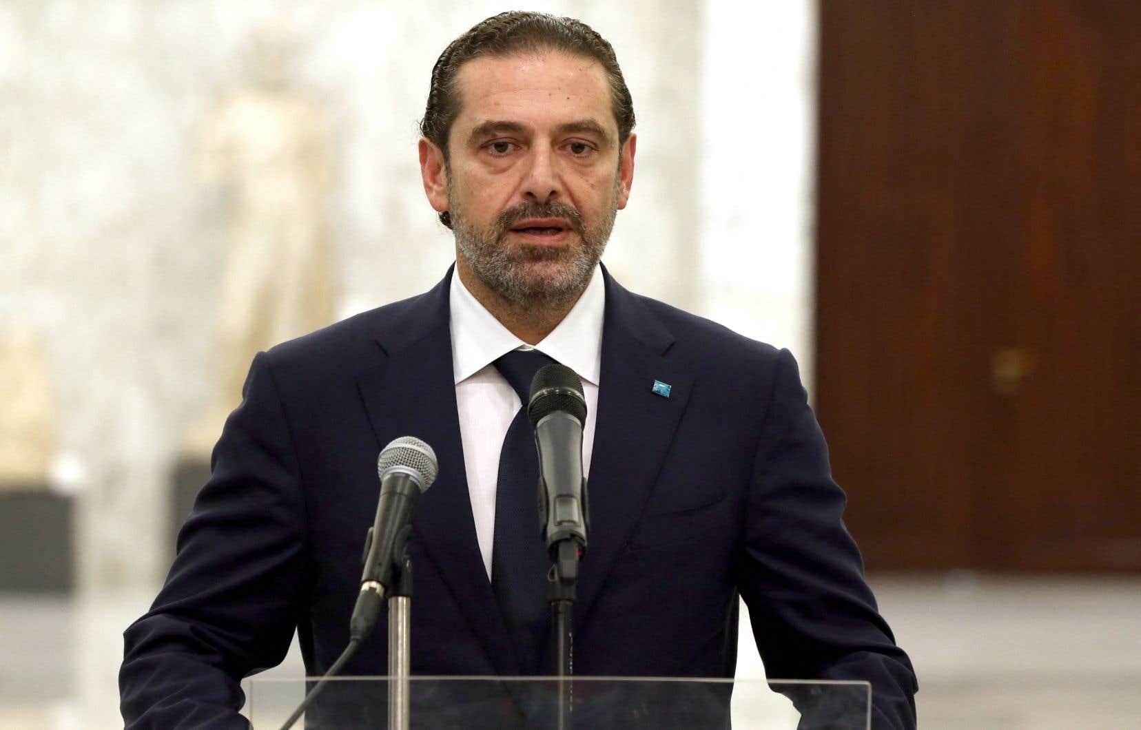 """«Je lui ai proposé plus de temps pour réfléchir et [Michel Aoun] a dit """"Nous ne pourrons pas nous mettre d'accord"""". C'est pourquoi je me suis excusé de ne pas pouvoir former le gouvernement, que Dieu aide le pays», a déclaré Saad Hariri."""