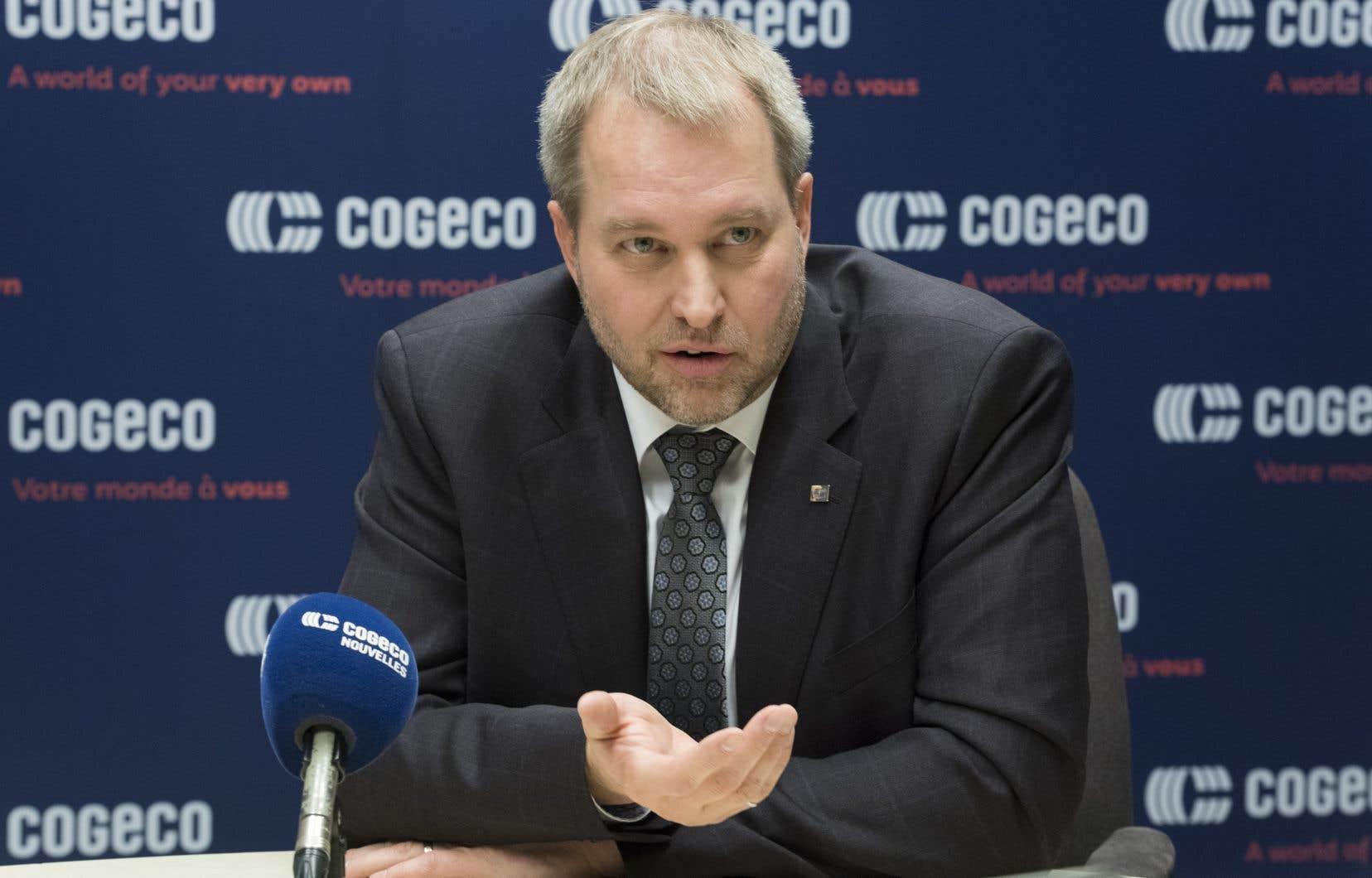 Le chef de la direction de Cogeco, Philippe Jetté