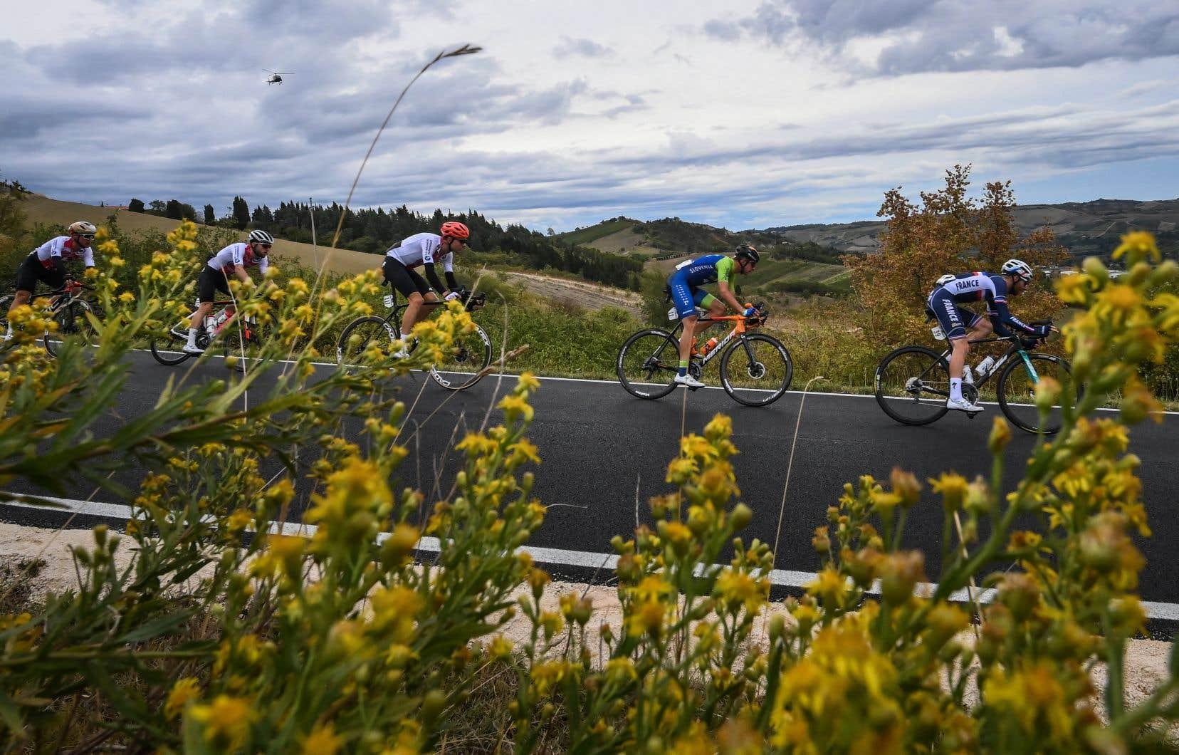 En 2020, les Championnats du monde de cyclisme sur route s'étaient déroulés à Imola, en Italie.