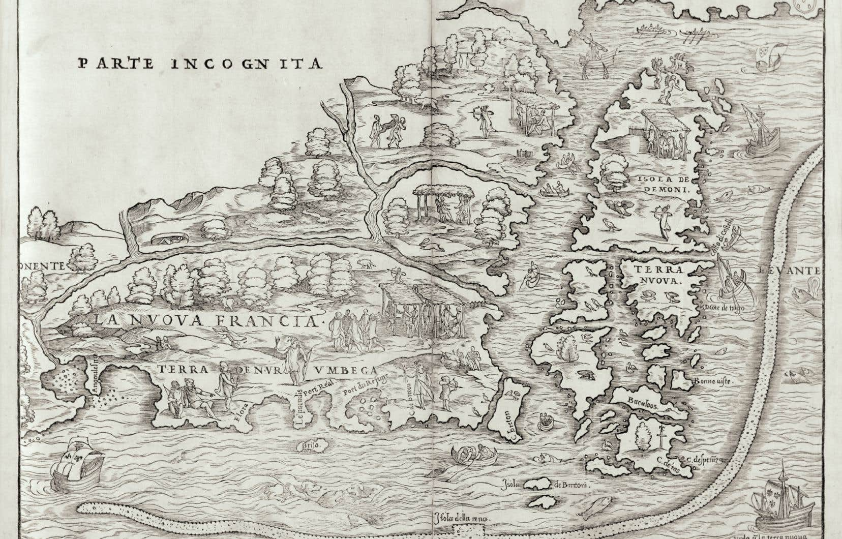La mystérieuse île aux Démons est longtemps apparue près de L'Anse-aux-Meadows, au nord de Terre-Neuve, sur les cartes de la Renaissance.