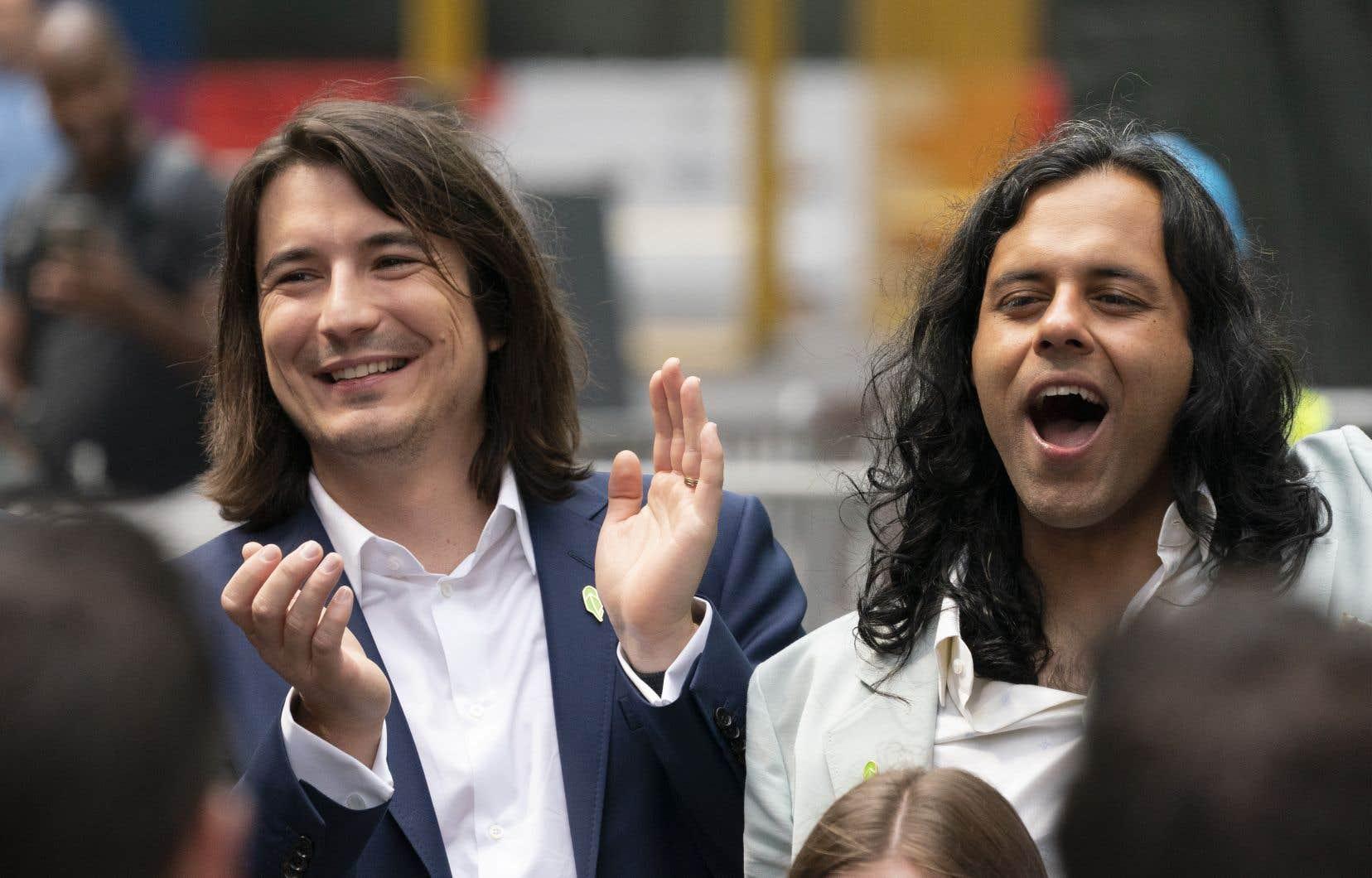 «Quand nous disons que nous voulons démocratiser l'accès à la finance, ce n'est pas juste un slogan pour nous», a fait valoir Vlad Tenev (à gauche), cofondateur avec Baiju Bhatt (à droite).