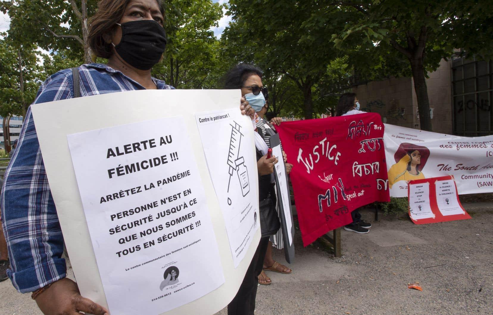 La manifestation était organisée parle Centre communautaire des femmes sud asiatiques et soutenue par le Comité d'action de Parc-Extension.