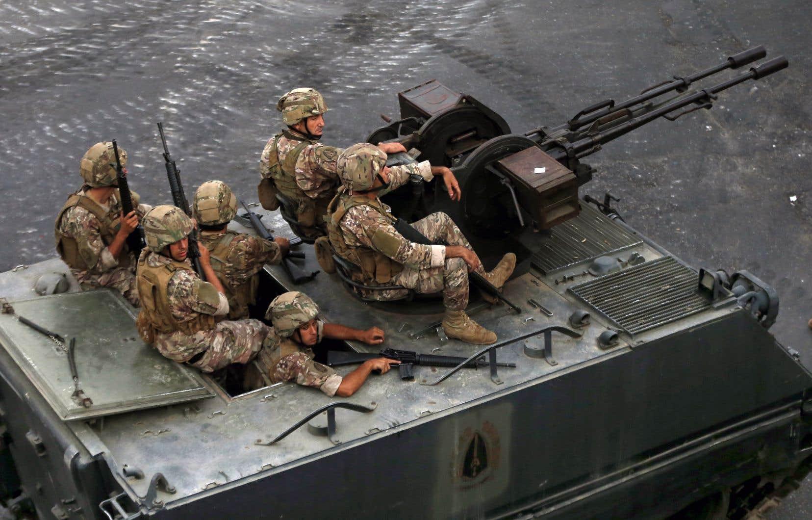 L'armée a été déployée dimanche dans le secteur de Khaldé, au sud de Beyrouth
