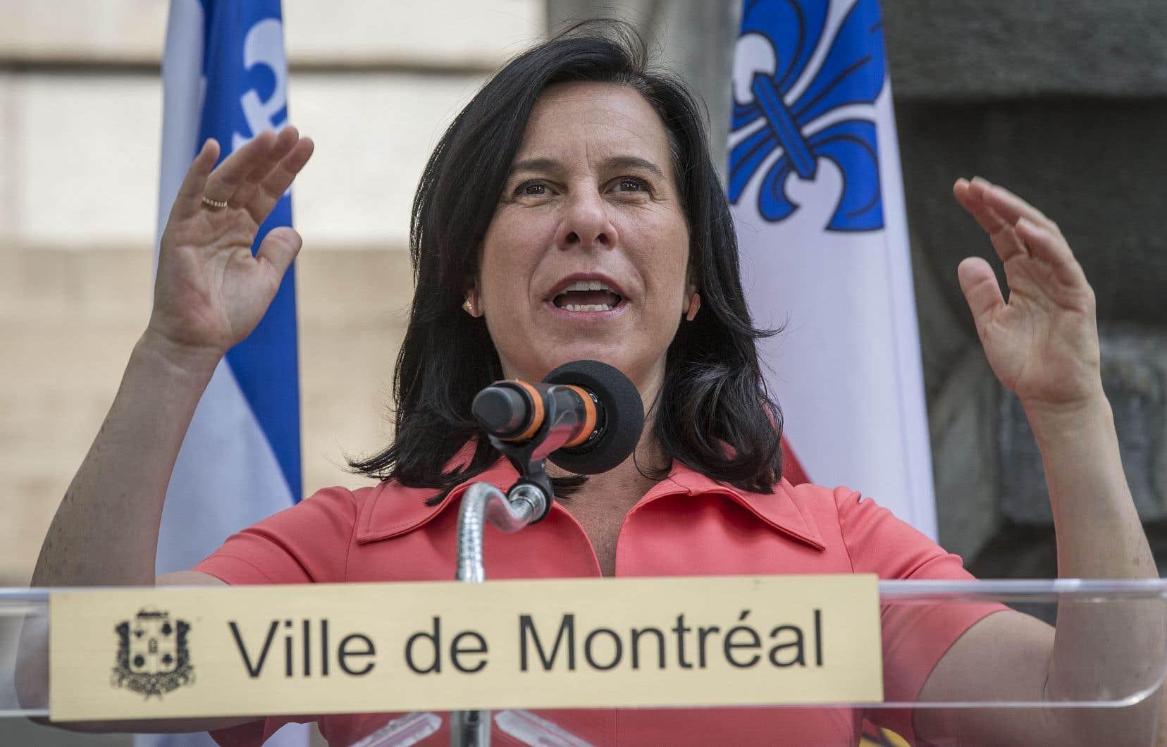 «La quiétude et la tranquillité dans nos quartiers, c'est prioritaire et on y tient», a insisté la mairesse ValériePlante.