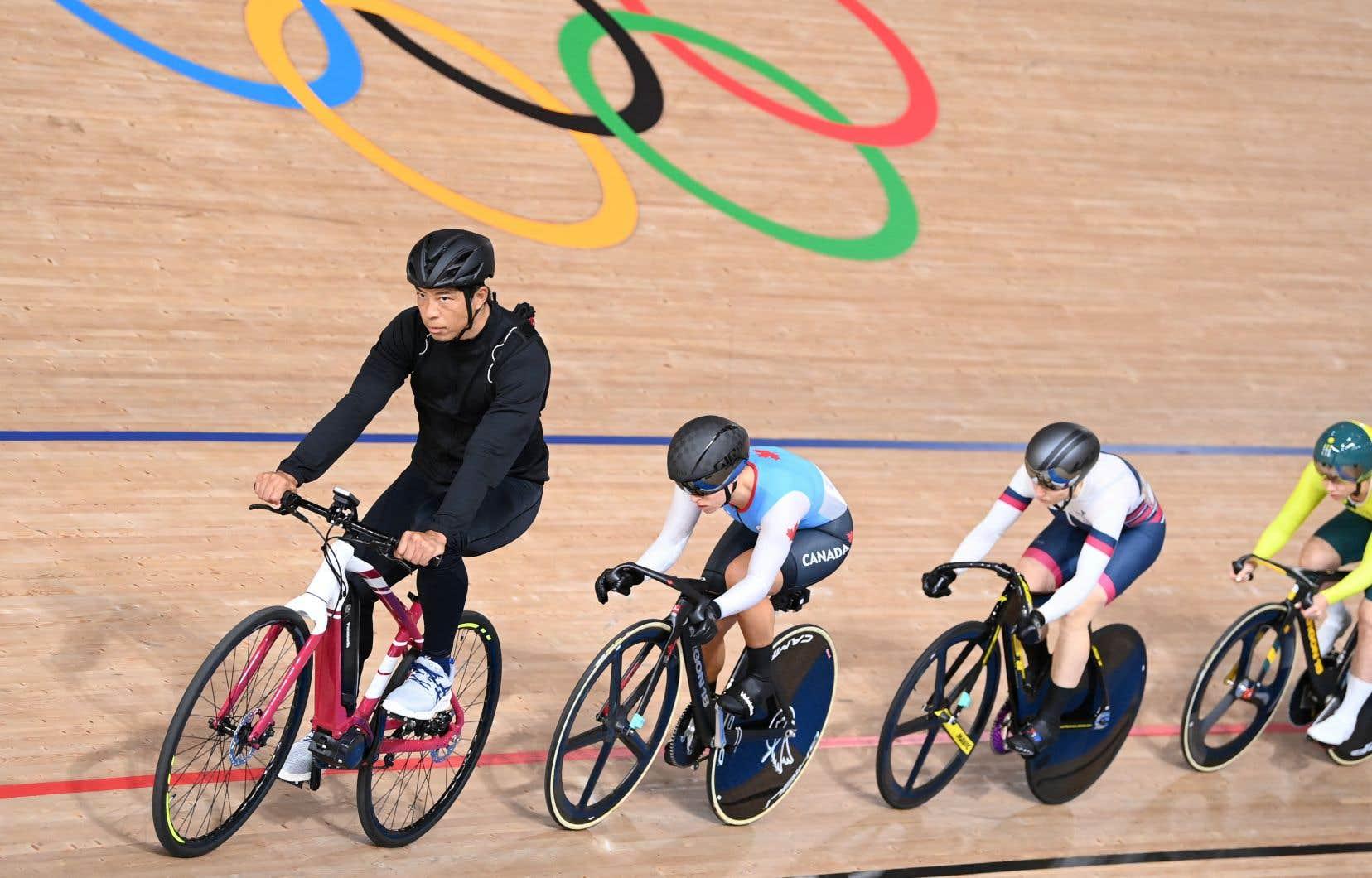 Jamais avant elle une cycliste canadienne n'était montée sur le podium de cette épreuve aux Jeux olympiques.