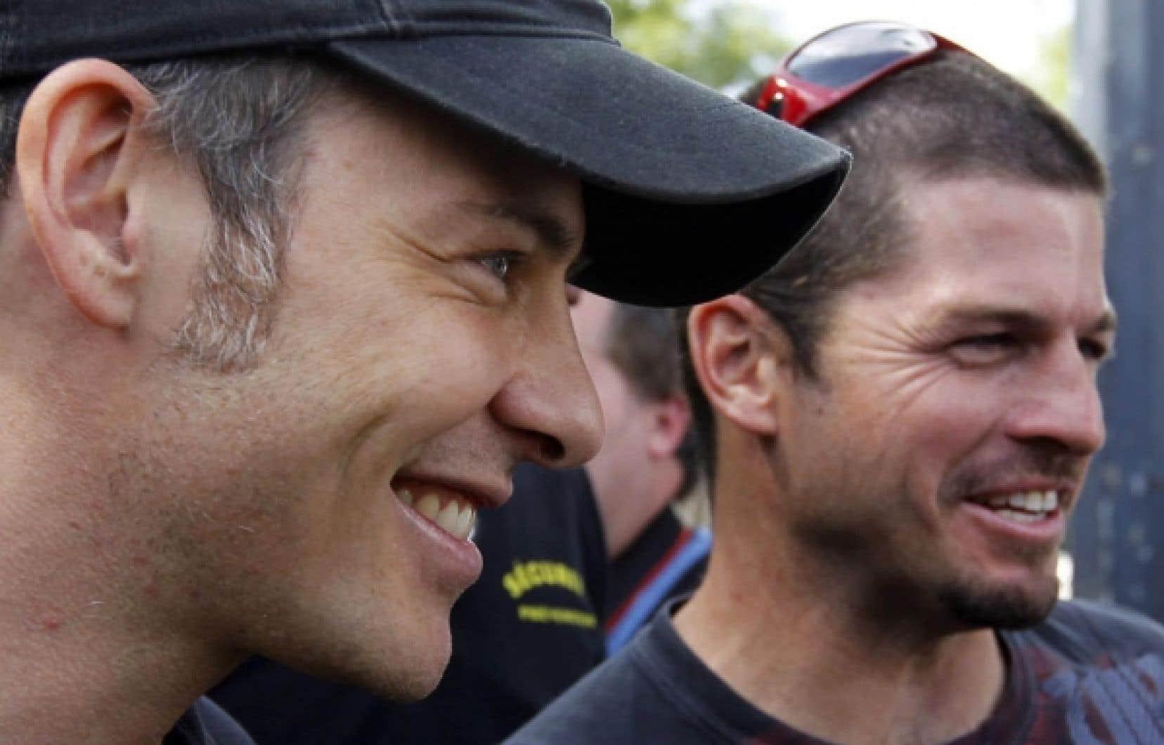 Jacques Villeneuve et Patrick Carpentier en 2010 <br />