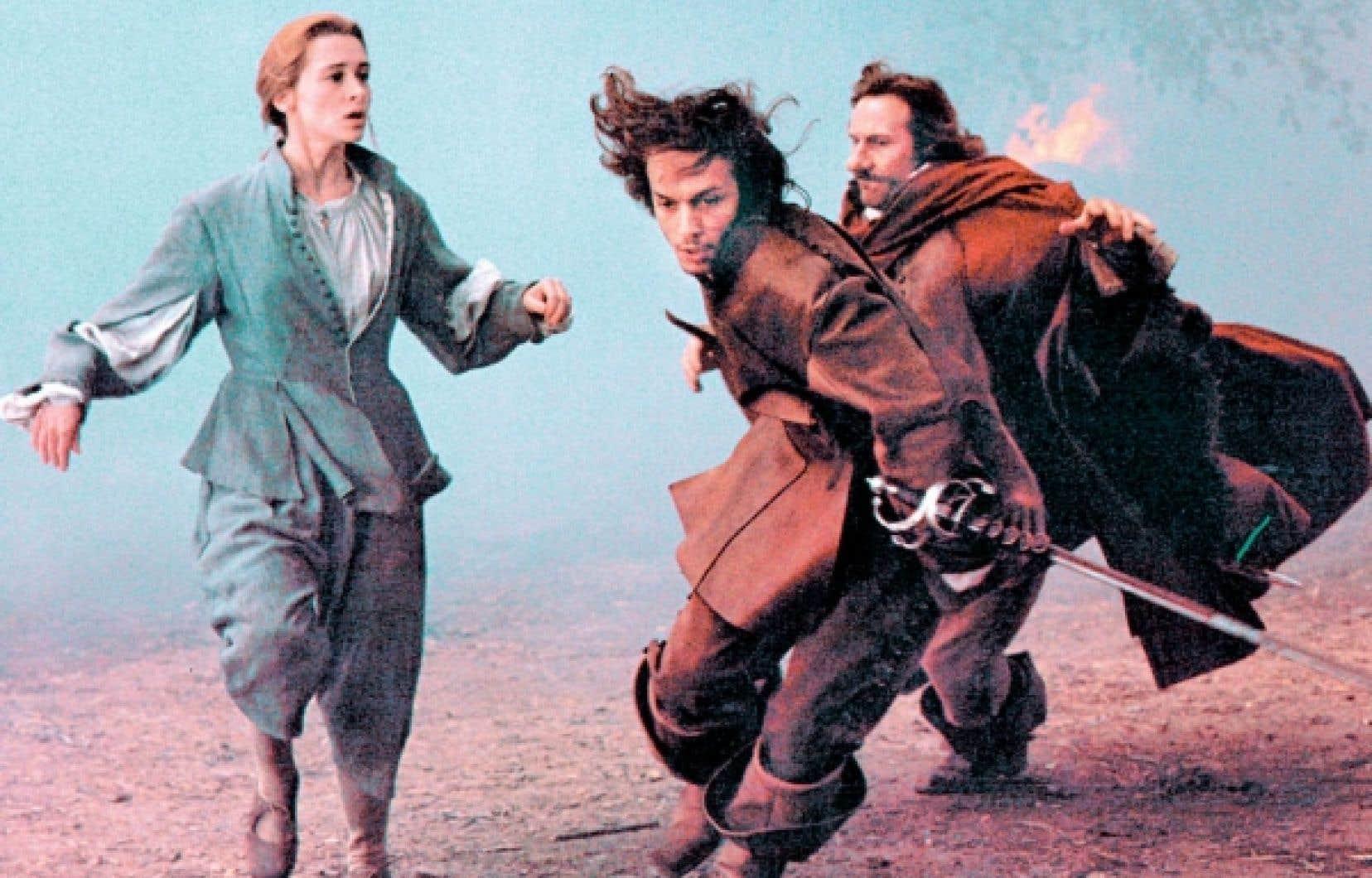 Une sc&egrave;ne de Cyrano de Bergerac, de Jean-Paul Rappeneau, avec en vedette G&eacute;rard Depardieu<br />