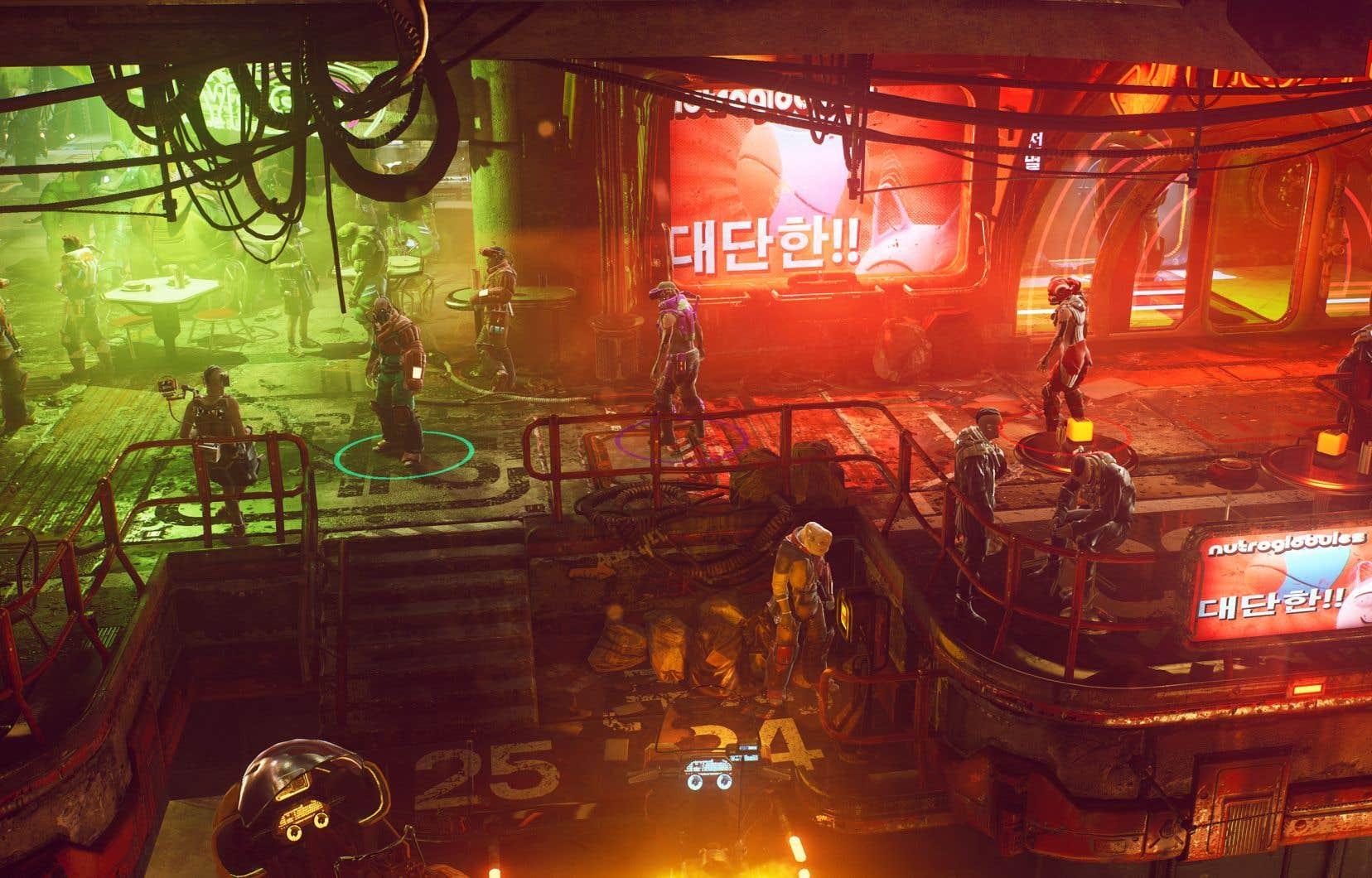 Scène tirée du jeu vidéo «The Ascent»