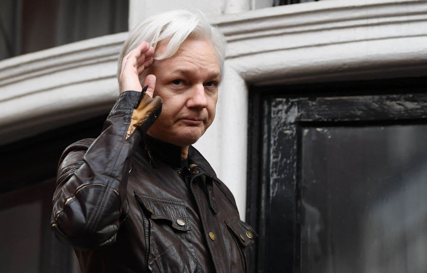 Julian Assange a été arrêté par la police britannique en avril 2019 après avoir passé sept ans reclus à l'ambassade d'Équateur à Londres.
