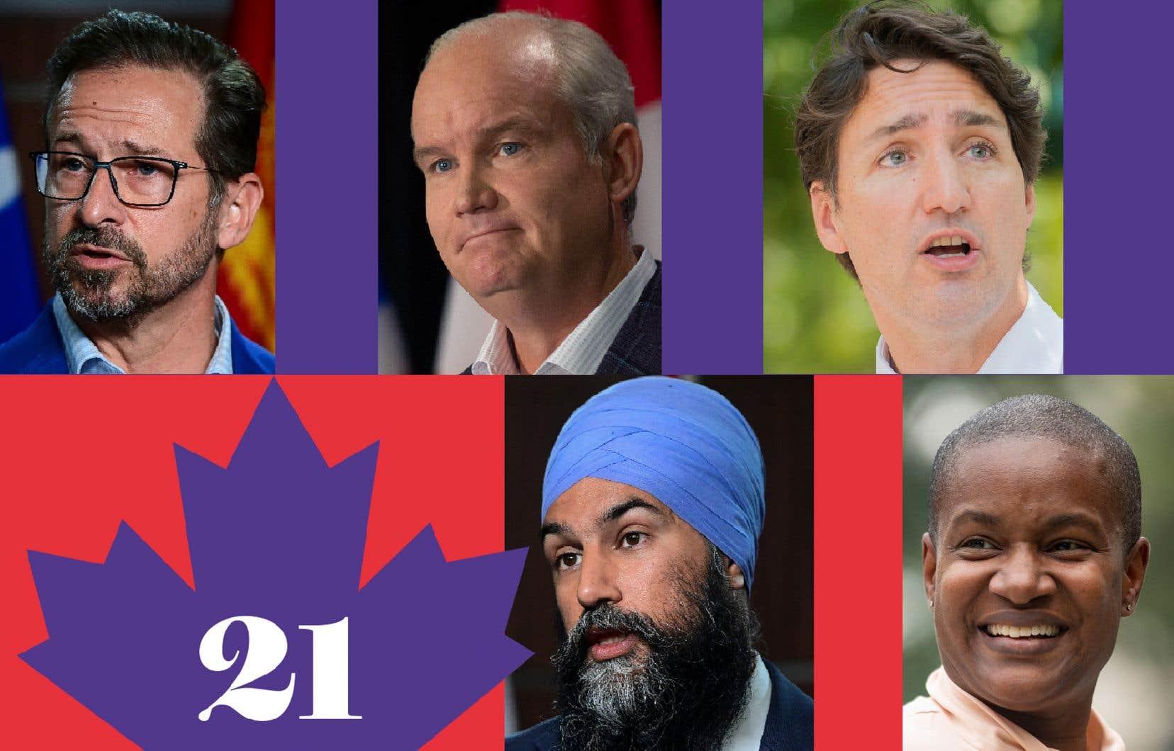 Cinq chefs sur les blocs de départ