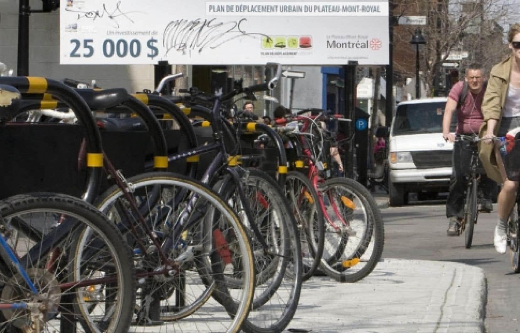 Le nombre de pistes cyclables a augmenté au cours des dernières années, mais les progrès sont trop lents au goût du CEUM. <br />