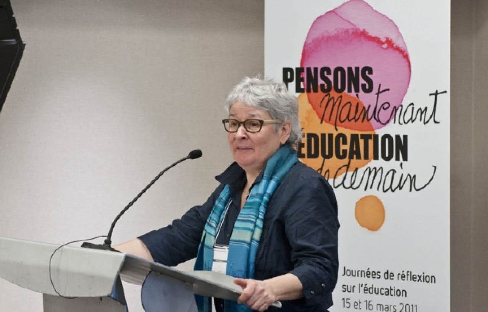 Denise Boucher, vice-présidente de la CSN, a participé aux journées de réflexion «Pensons maintenant l'éducation de demain», les 15 et 16 mars 2011, à Montréal.<br />