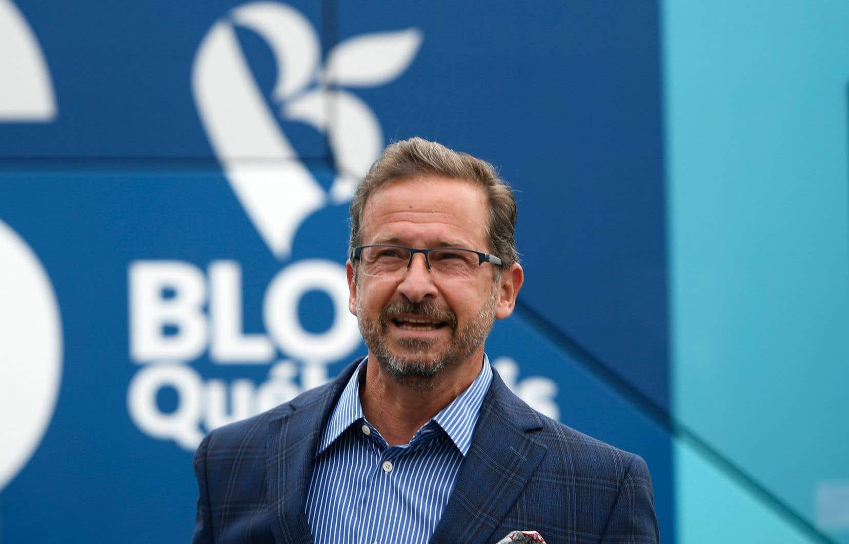 Le chef du Bloc québécois,Yves-François Blanchet